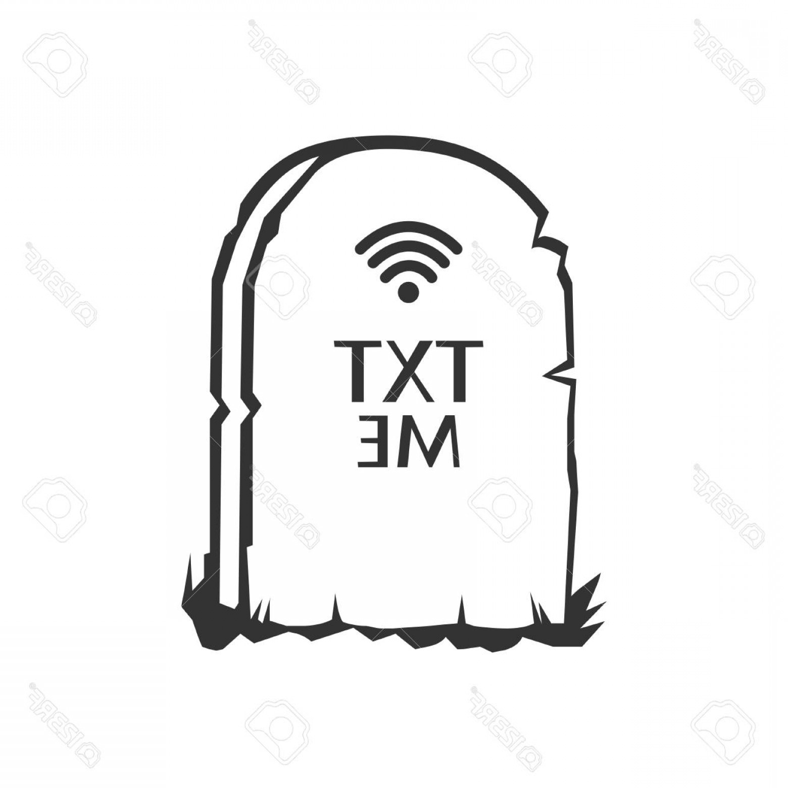 Gravestone Black And Whit Vector JPEG: Photostock Vector Handdrawn Grave Doodle Icon Hand Drawn Black Sketch Sign Cartoon Symbol Decoration Element White Bac
