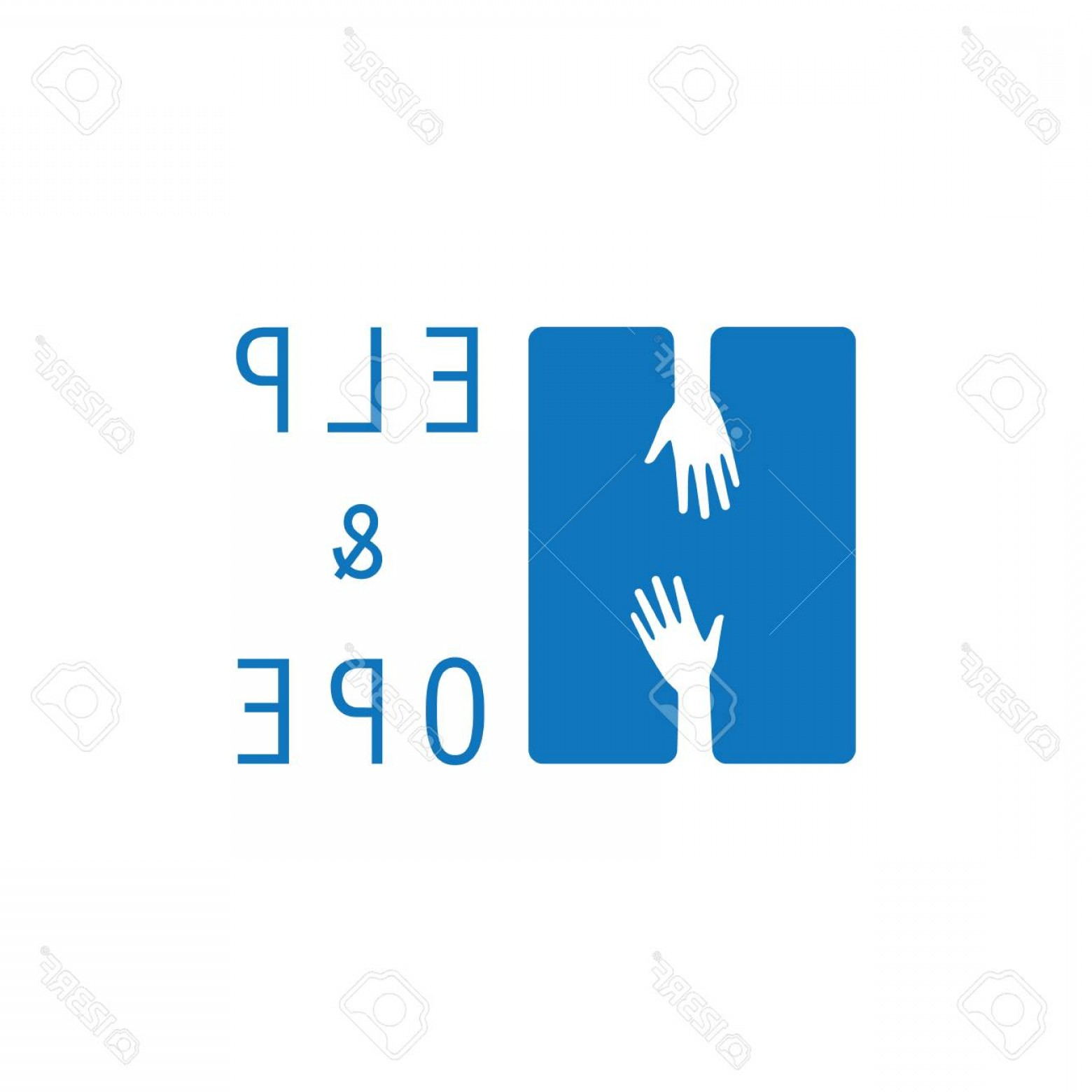 Support Vector Graphics: Photostock Vector Hands Reaching For Help Support And Hope Icon Logo Vector Graphic Design