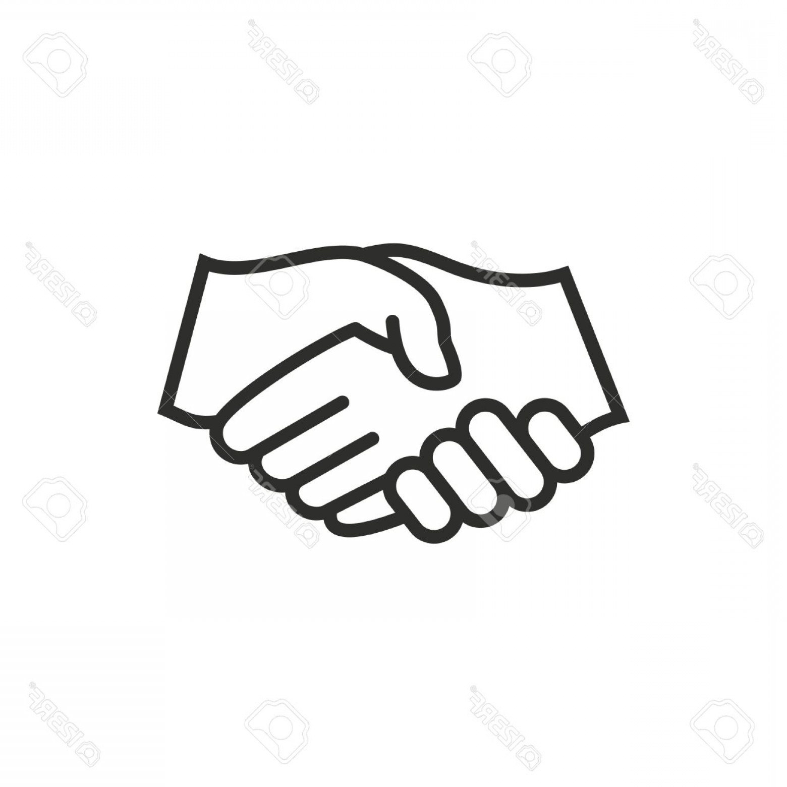 Handshake Vector Art: Photostock Vector Handshake Vector Icon Black Illustration Isolated On White Background For Graphic And Web Design