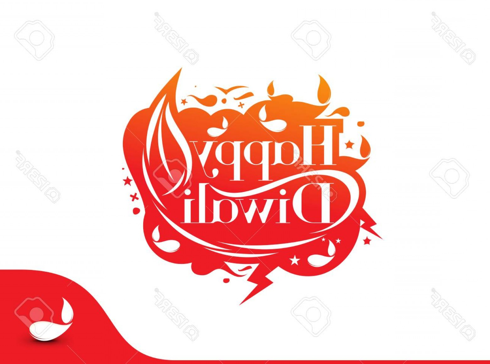 Text Illustrator Vector: Photostock Vector Happy Diwali Text Design Background Abstract Vector Illustration