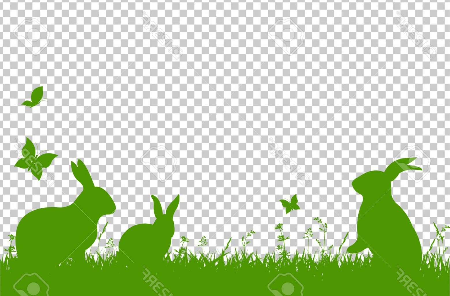 Easter Vector No Background: Photostock Vector Happy Easter Border Isolated On Transparent Background Vector Illustration