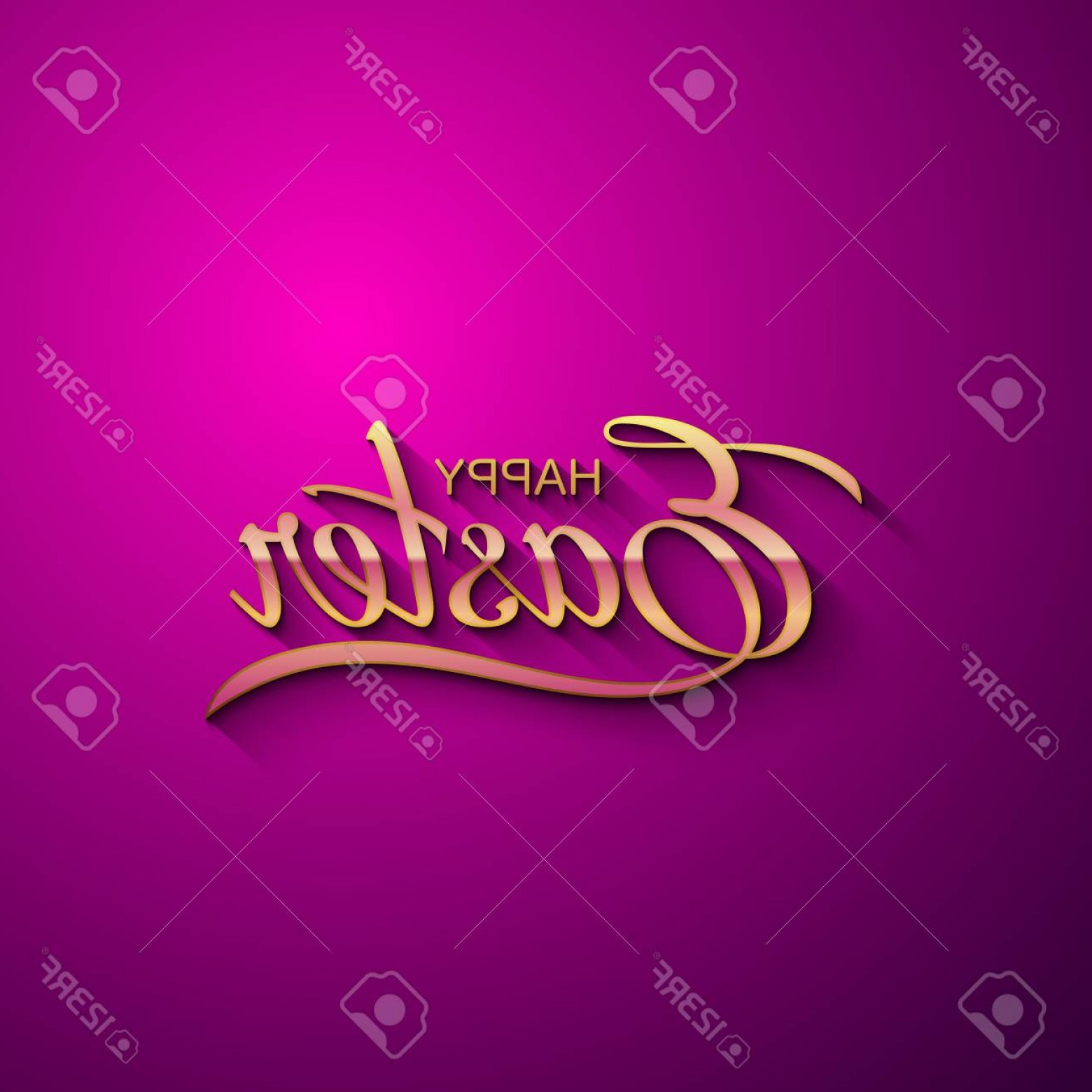 Religious Easter Vector Files: Photostock Vector Happy Easter Vector Illustration Of Holiday Religious Easter Lettering Golden Label