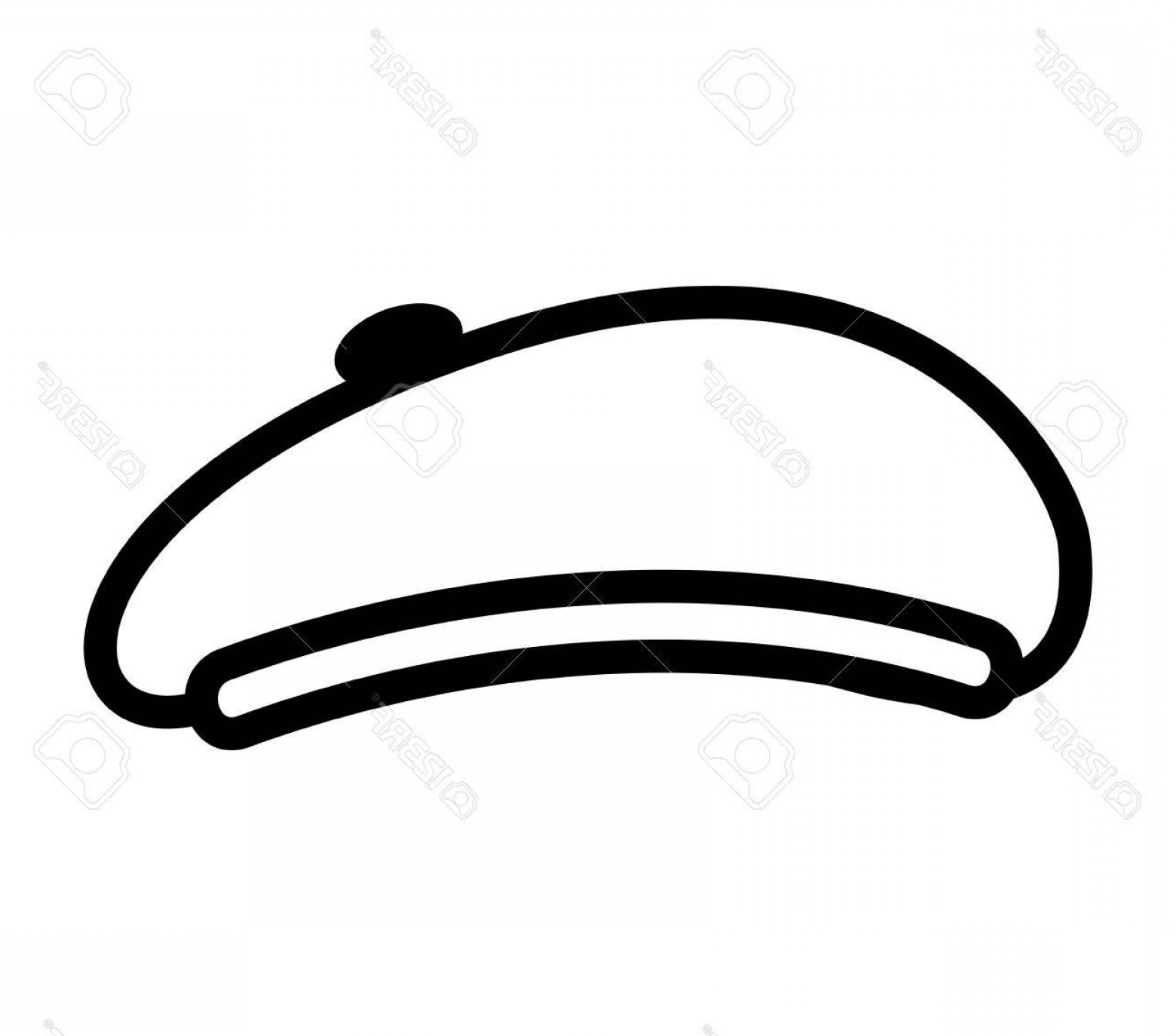 Beret Hat Vector: Photostock Vector Hat Retro Style Beret Vector Illustration Design