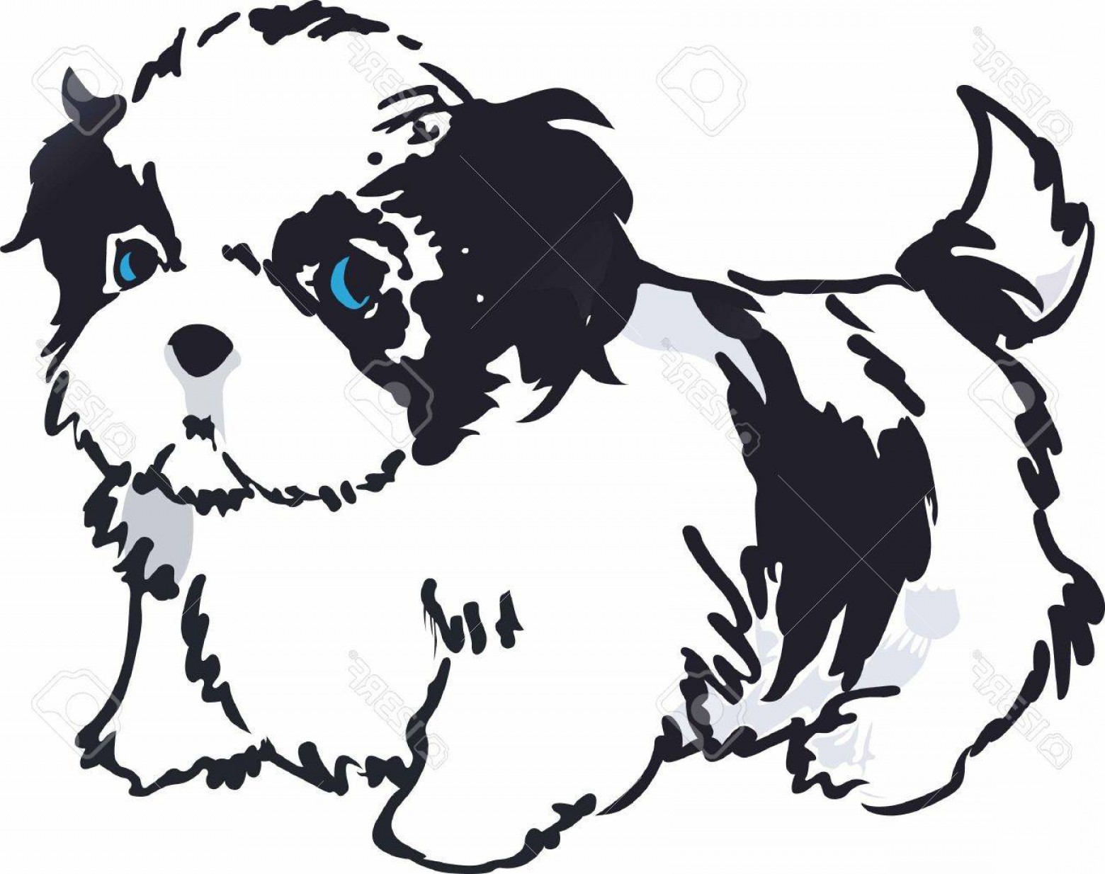Shih Tzu Vector Cartoons: Photostock Vector Have A Shih Tzu With You Always With This Cute Dog