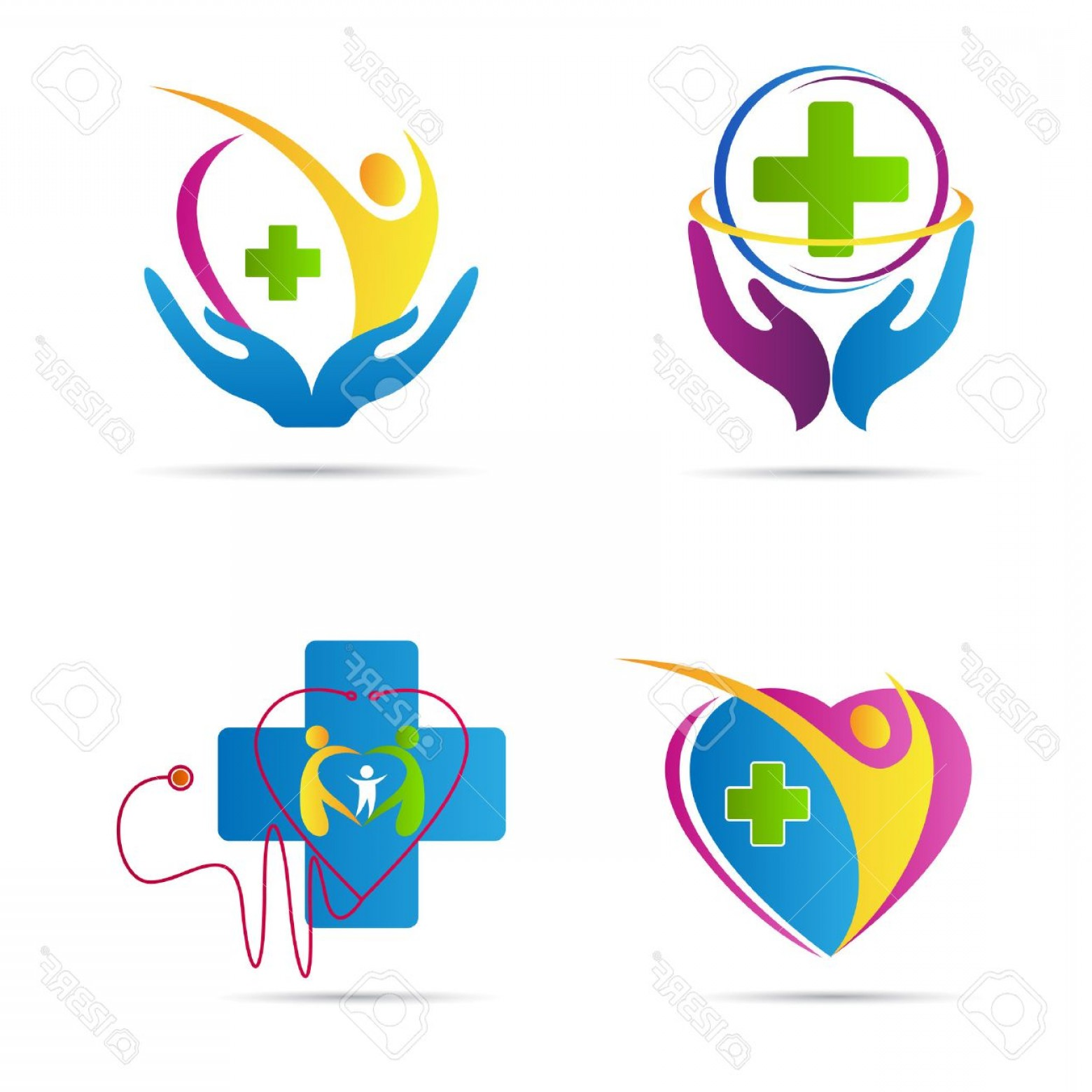 Vector Health Insurance: Photostock Vector Health Care Vector Design Represents Family Health Care And Medical Signs