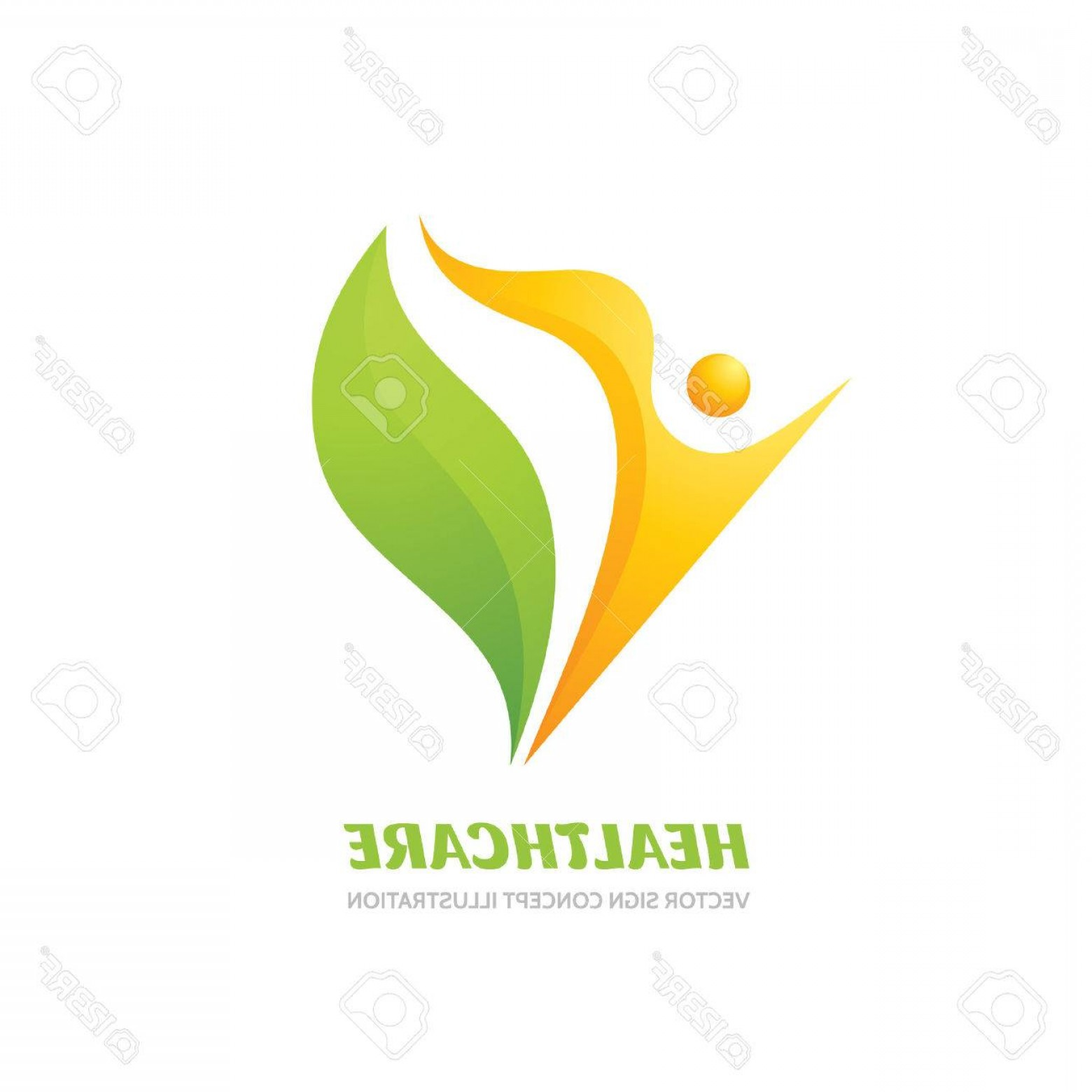Health Vector Logo: Photostock Vector Healthcare Vector Logo Concept Illustration Health Logo Sign Healthy Logo Human Character Logo Sign