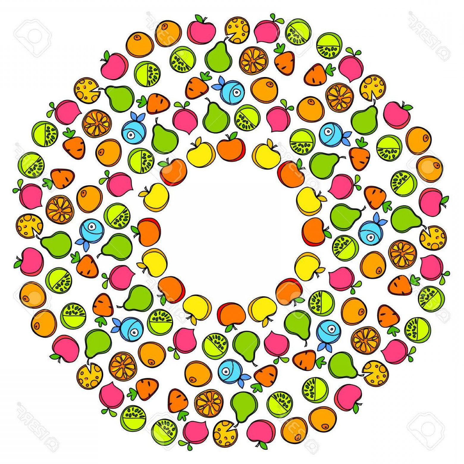 Vector Fruit Vegetable: Photostock Vector Healthy Food Fruit Vegetables Fish