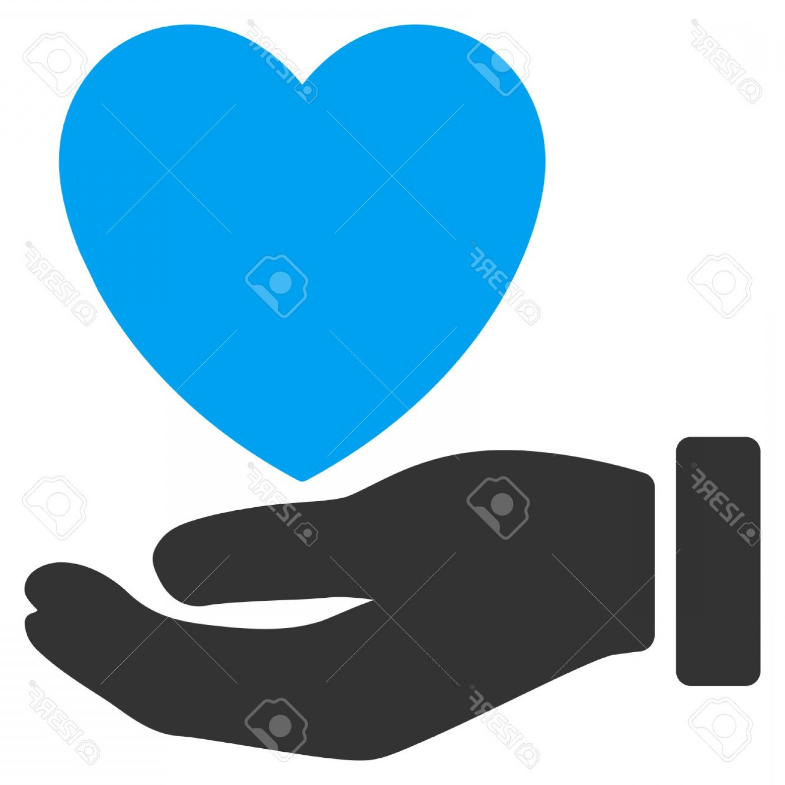 Charity Meter Vector: Photostock Vector Heart Charity Vector Icon Style Is Bicolor Flat Symbol Blue And Gray Colors Rounded Angles White Bac