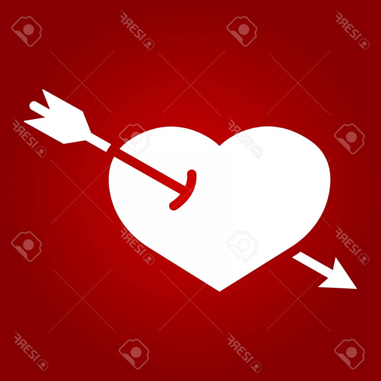 Solid Heart Vector Drawing: Photostock Vector Heart Pierced With Arrow Glyph Icon Valentines Day And Romantic Love Sign Vector Graphics A Solid Pa
