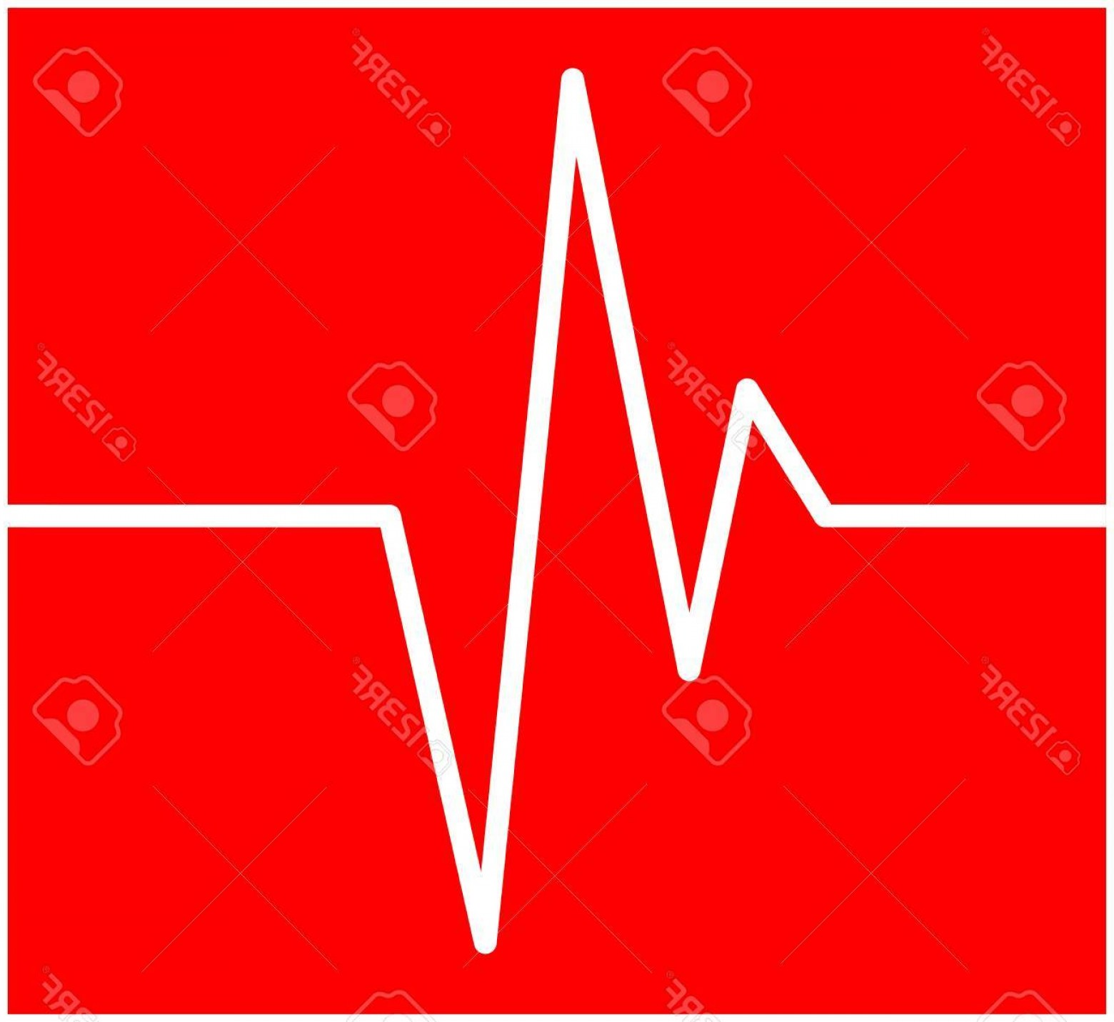 Heart With EKG Line Vector: Photostock Vector Heart Rhythm Ecg Line Vector Symbol Icon Design Beautiful Illustration Isolated On Red Background