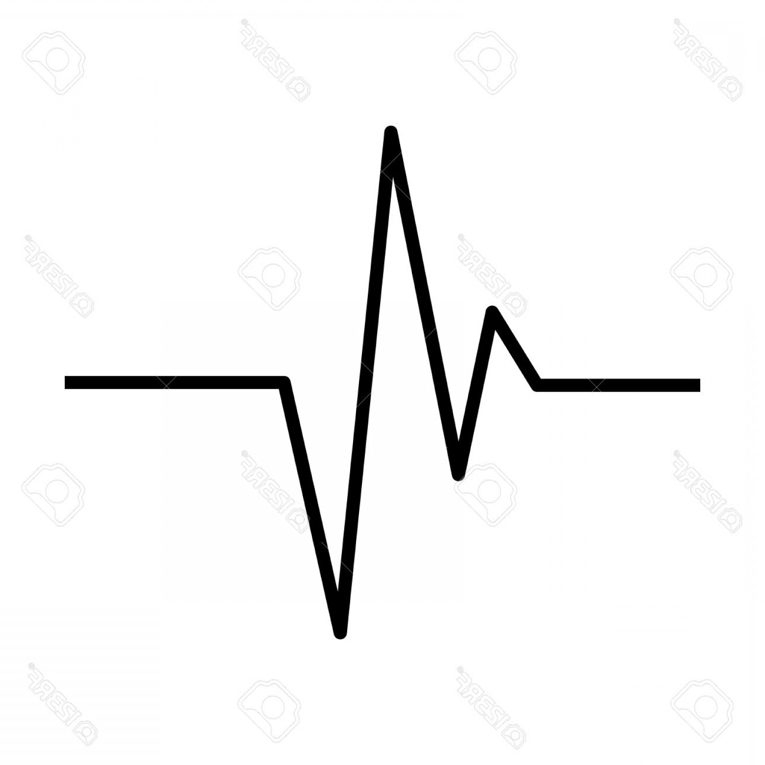 Heart With EKG Line Vector: Photostock Vector Heart Rhythm Ecg Line Vector Symbol Icon Design Beautiful Illustration Isolated On White Background
