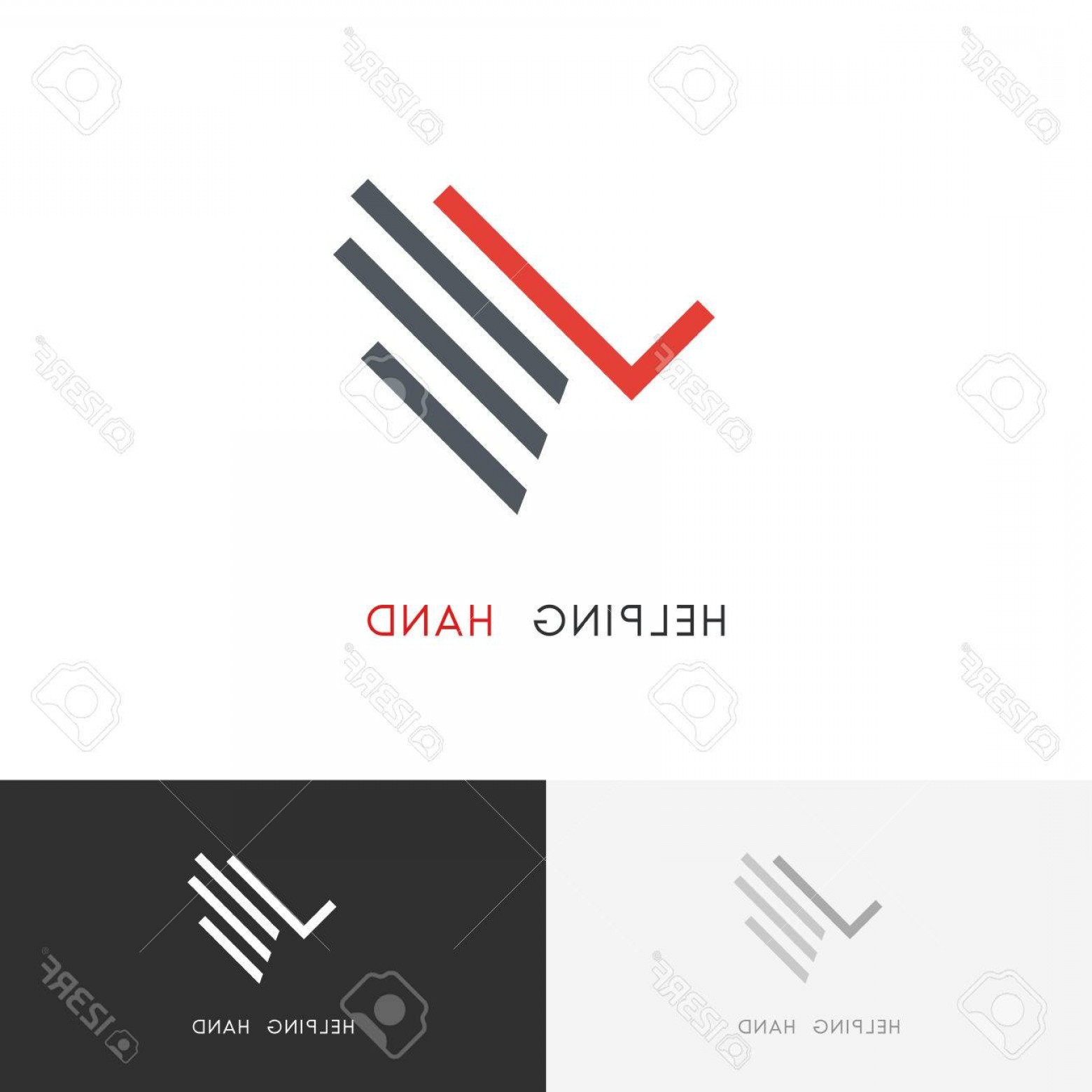 Charity Meter Vector: Photostock Vector Helping Hand Logo Palm With Check Mark Or Tick Symbol Business Success And Charity Work