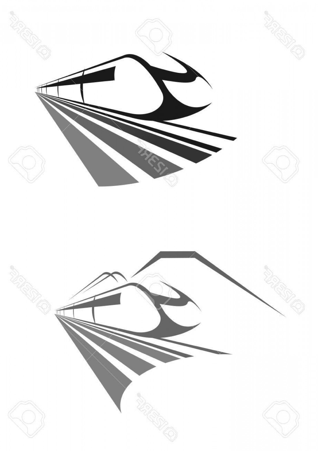 Railroad Logos Vector Format: Photostock Vector High Speed Train Icon Intercity Express Rail Or Railway Transport Vector Emblem For Urban Monorail M