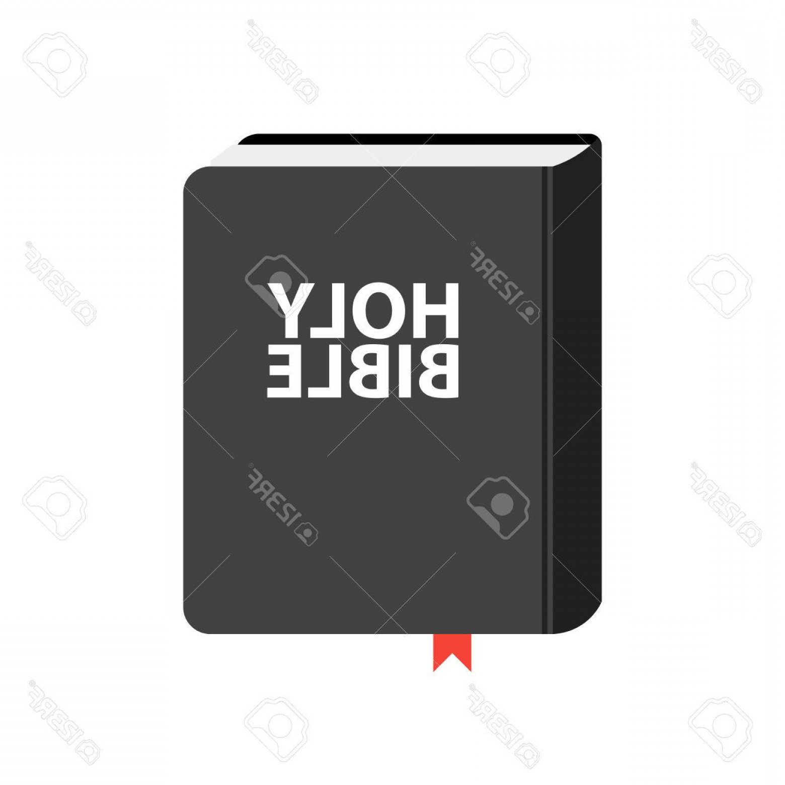 Holy Bible Vector: Photostock Vector Holy Bible Book Icon Flat Vector Illustration