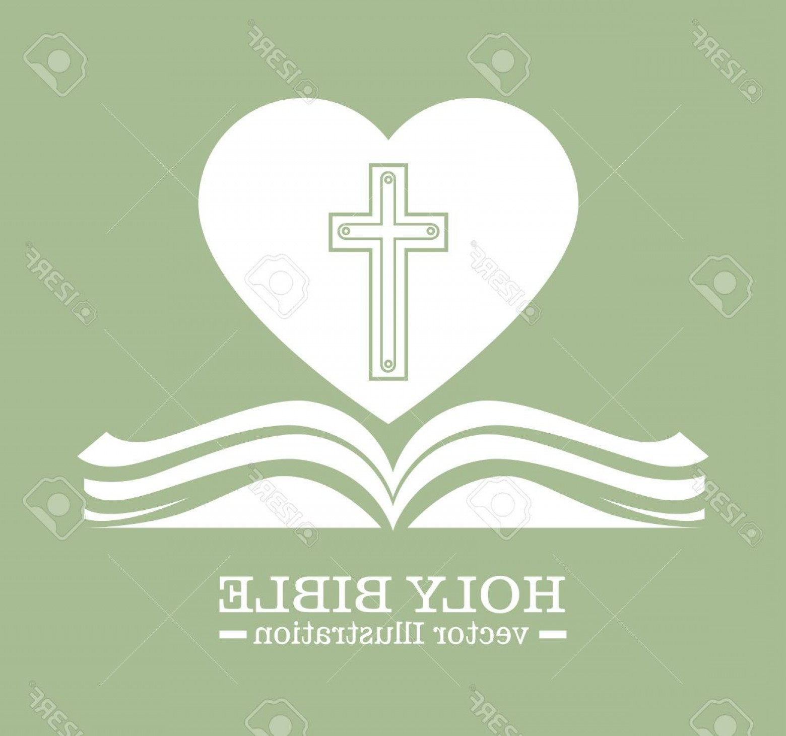 Holy Bible Vector: Photostock Vector Holy Bible Design Vector Illustration Eps Graphic