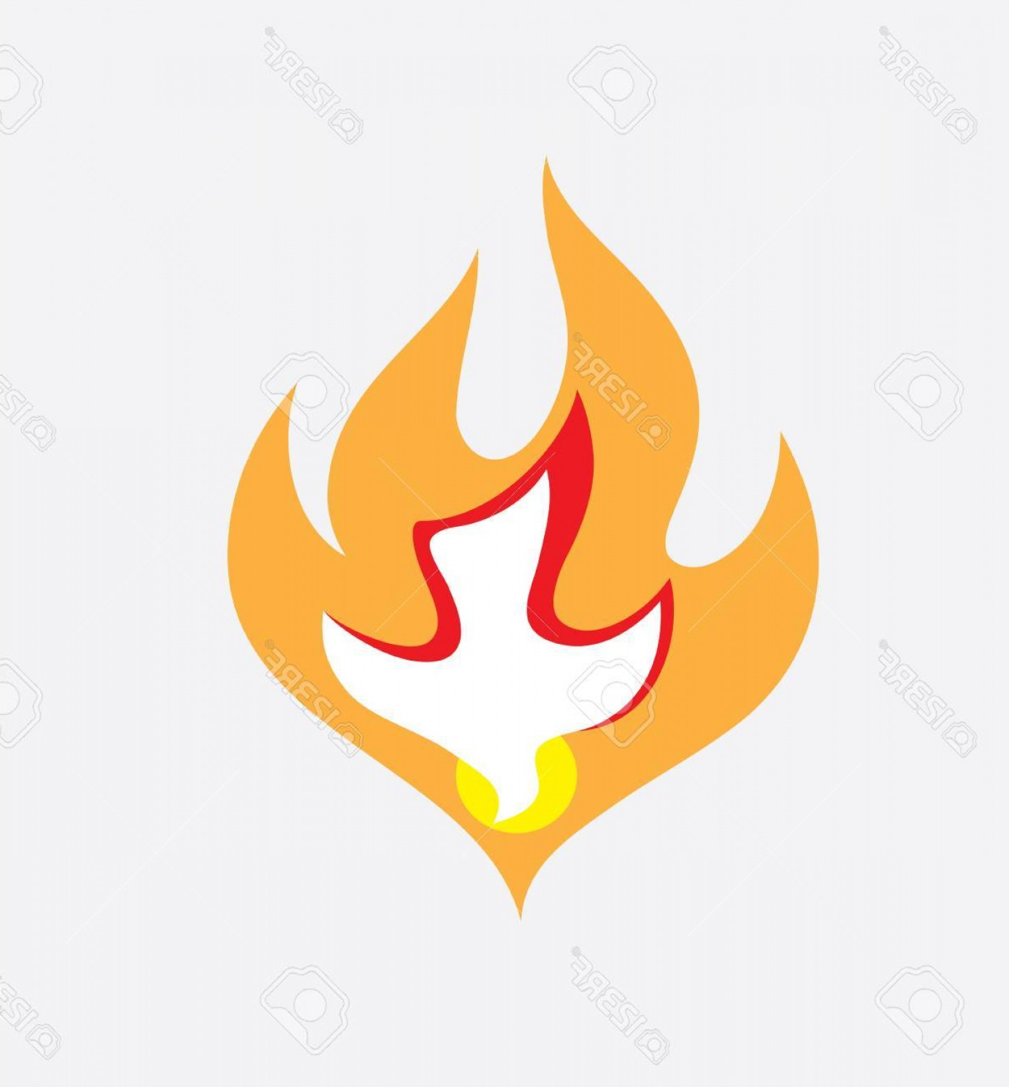 Fire Clip Art Vector: Photostock Vector Holy Spirit Fire Art Vector Design