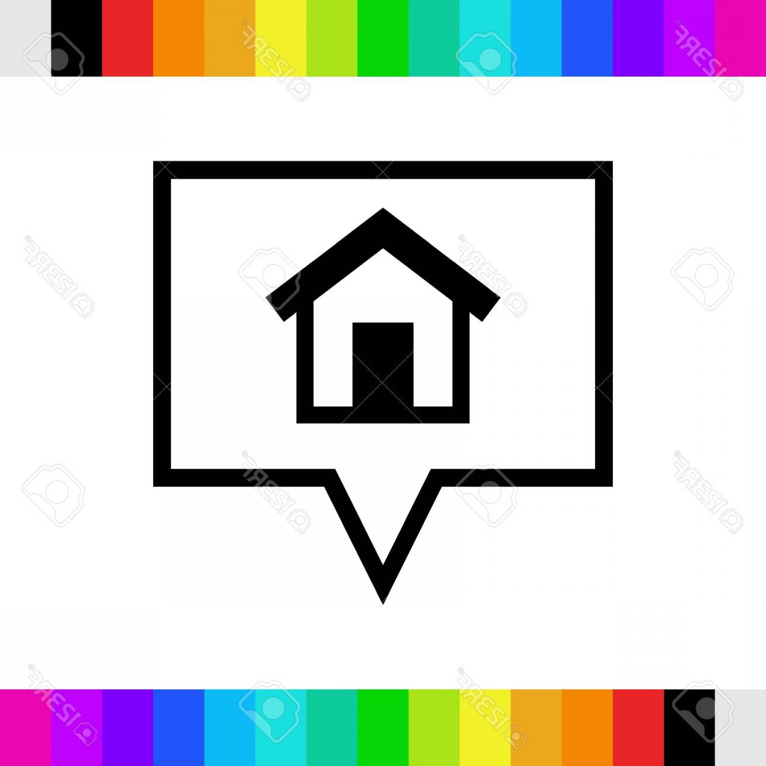In Icon Stock Vector: Photostock Vector Home Icon Stock Vector Illustration Flat Design