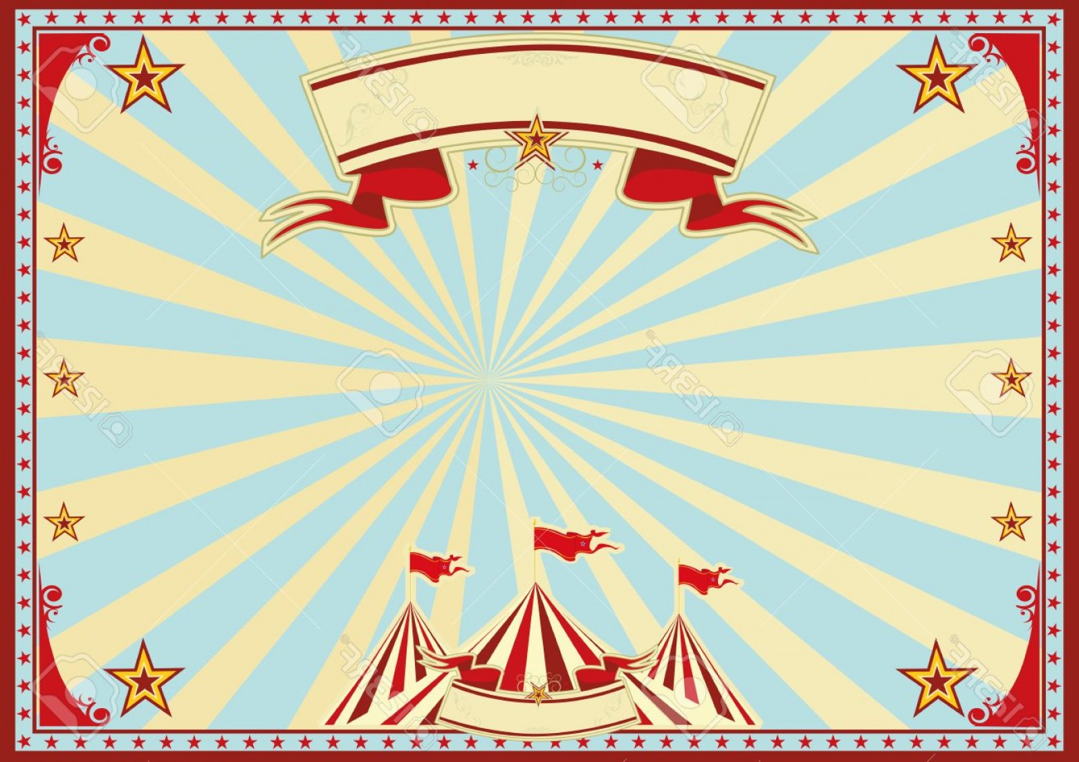 Circus Background Vector: Photostock Vector Horizontal Circus Background For A Poster