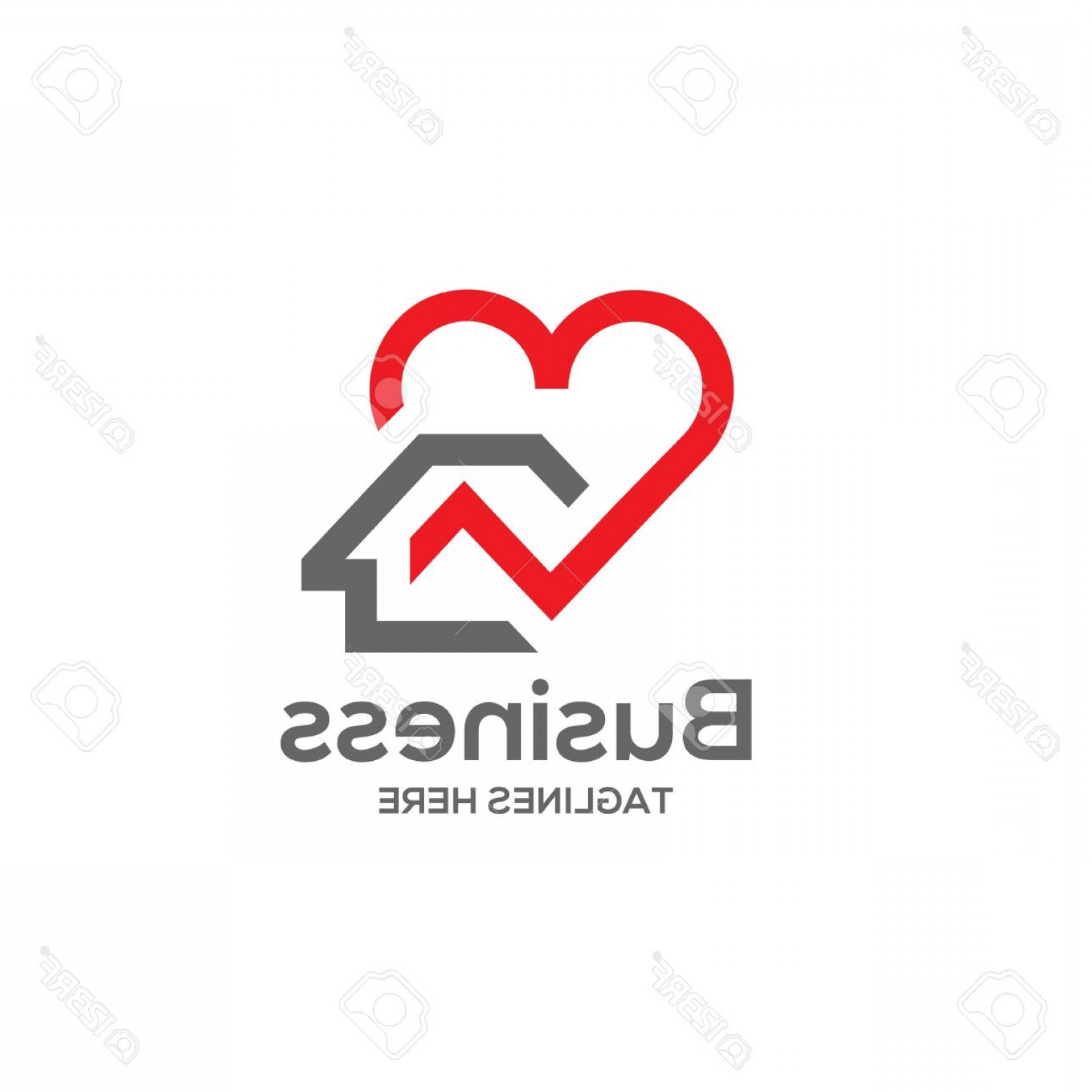 Home Logo Vector: Photostock Vector House And Heart Logo Vector Home Care Logo Vector Heart Love Love Home Family Logo Royalty