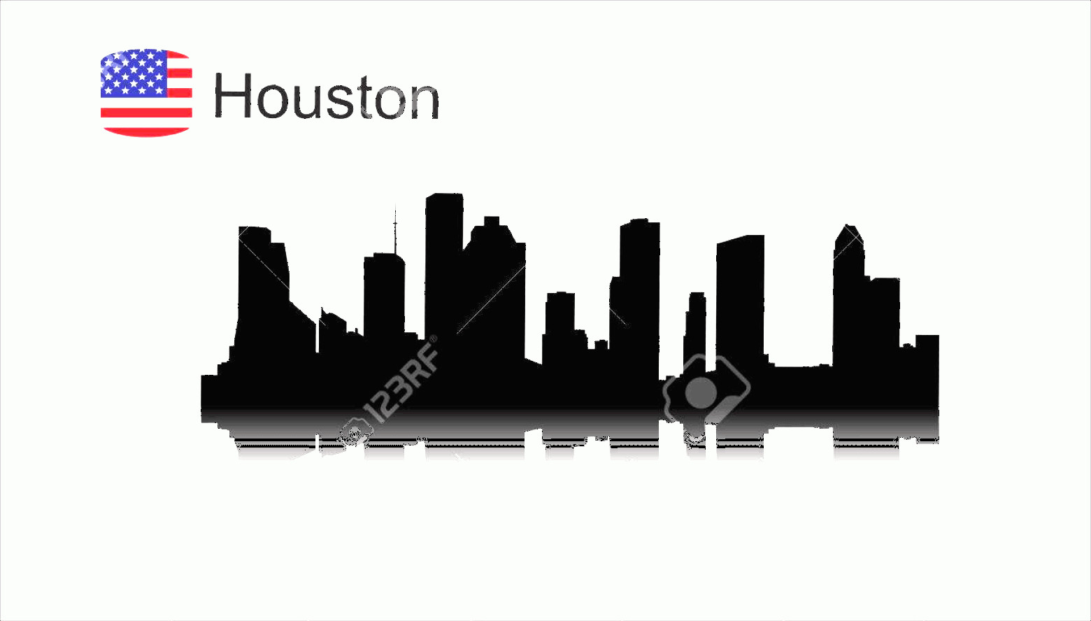 Vector Houston TX: Photostock Vector Houston Texas Skyline Detailed Vector Silhouette