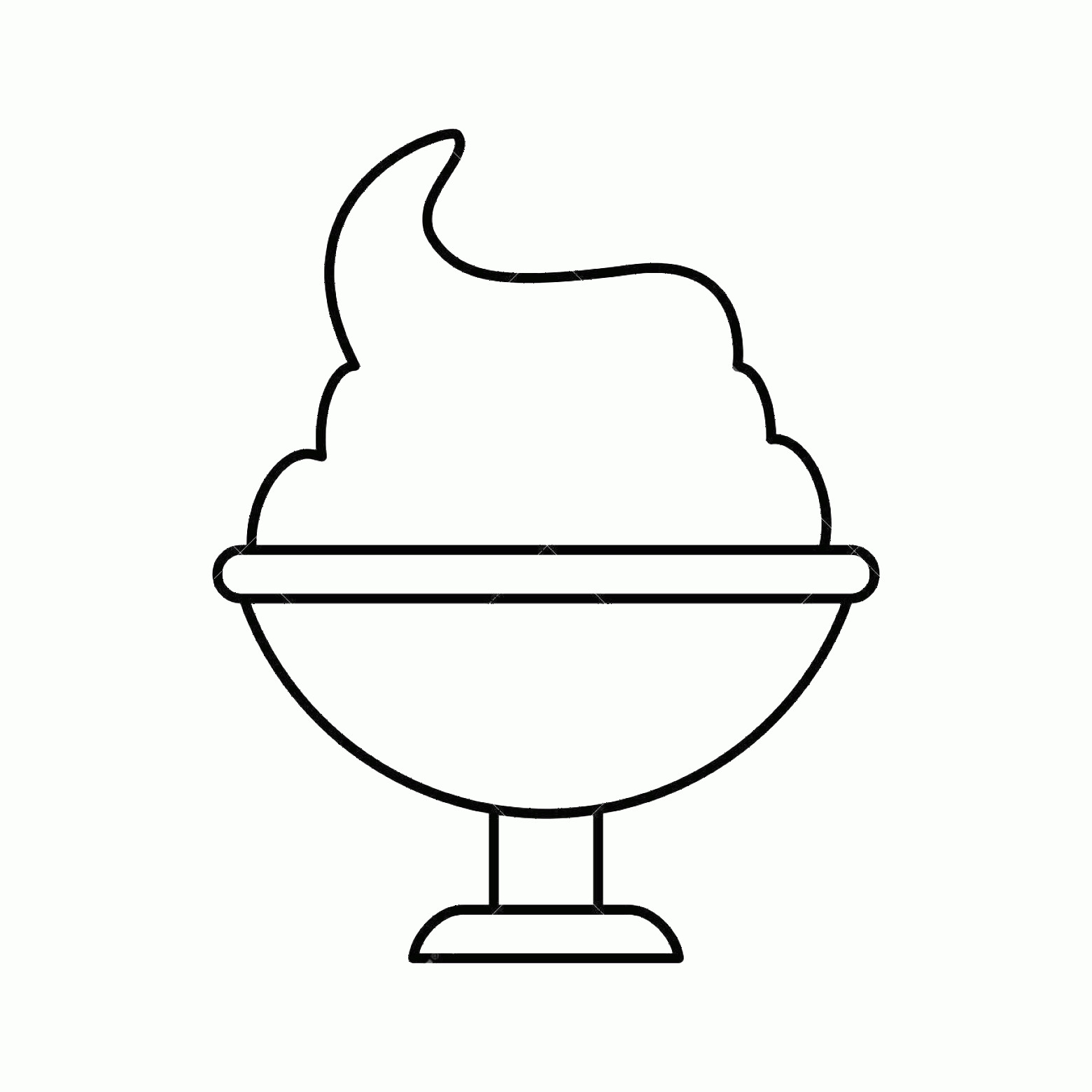 Black Cup Ice Cream Vector: Photostock Vector Ice Cream Cup Or Sundae Icon Image Vector Illustration Design Black Line