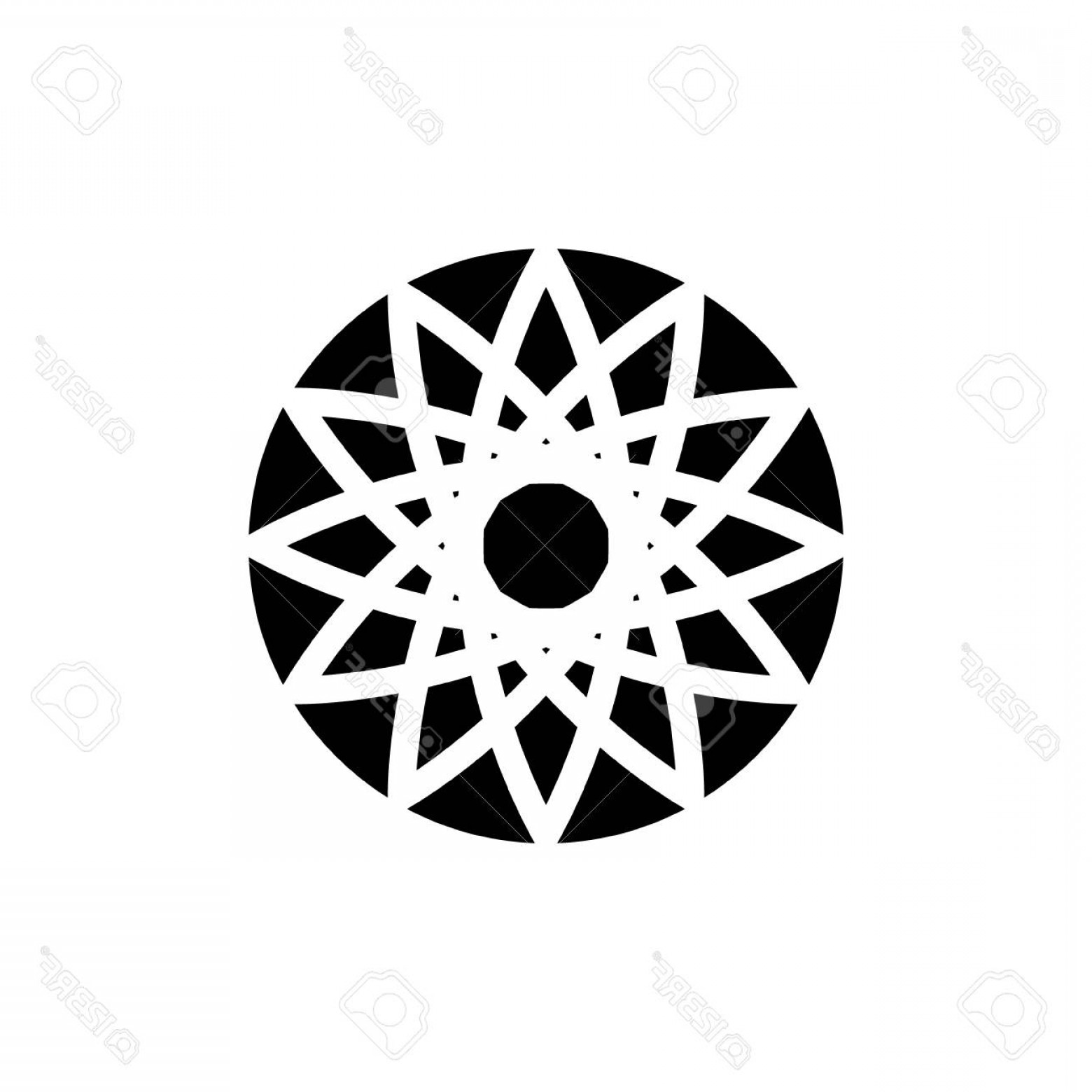 BBB Logo In Vector Form: Photostock Vector Icon Logo In The Form Of A Circular Abstract Pattern Vector Graphics