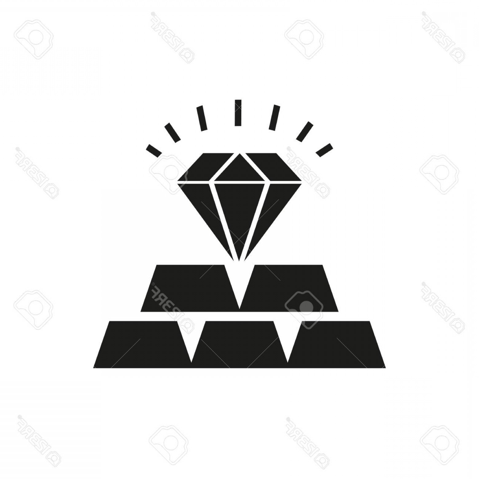 Jewelry Manufacturing Icon Vector: Photostock Vector Icon Of Commodities Investment Precious Metals Deposit Jewelry Banking Product Concept Can Be Used F