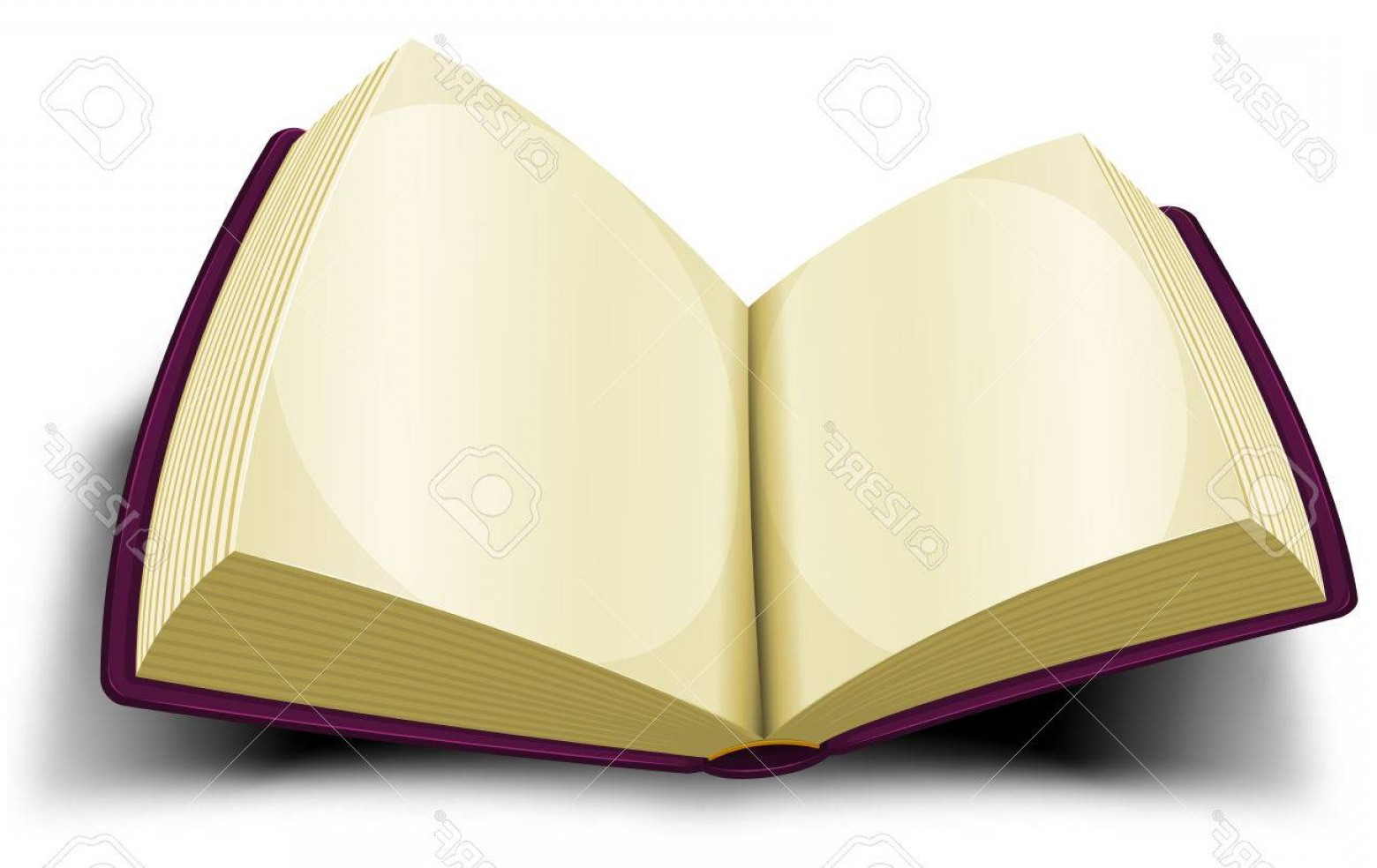 Cartoon Blank Open Book Vector: Photostock Vector Illustration Of A Cartoon Opened Purple Book With Blank White Pages