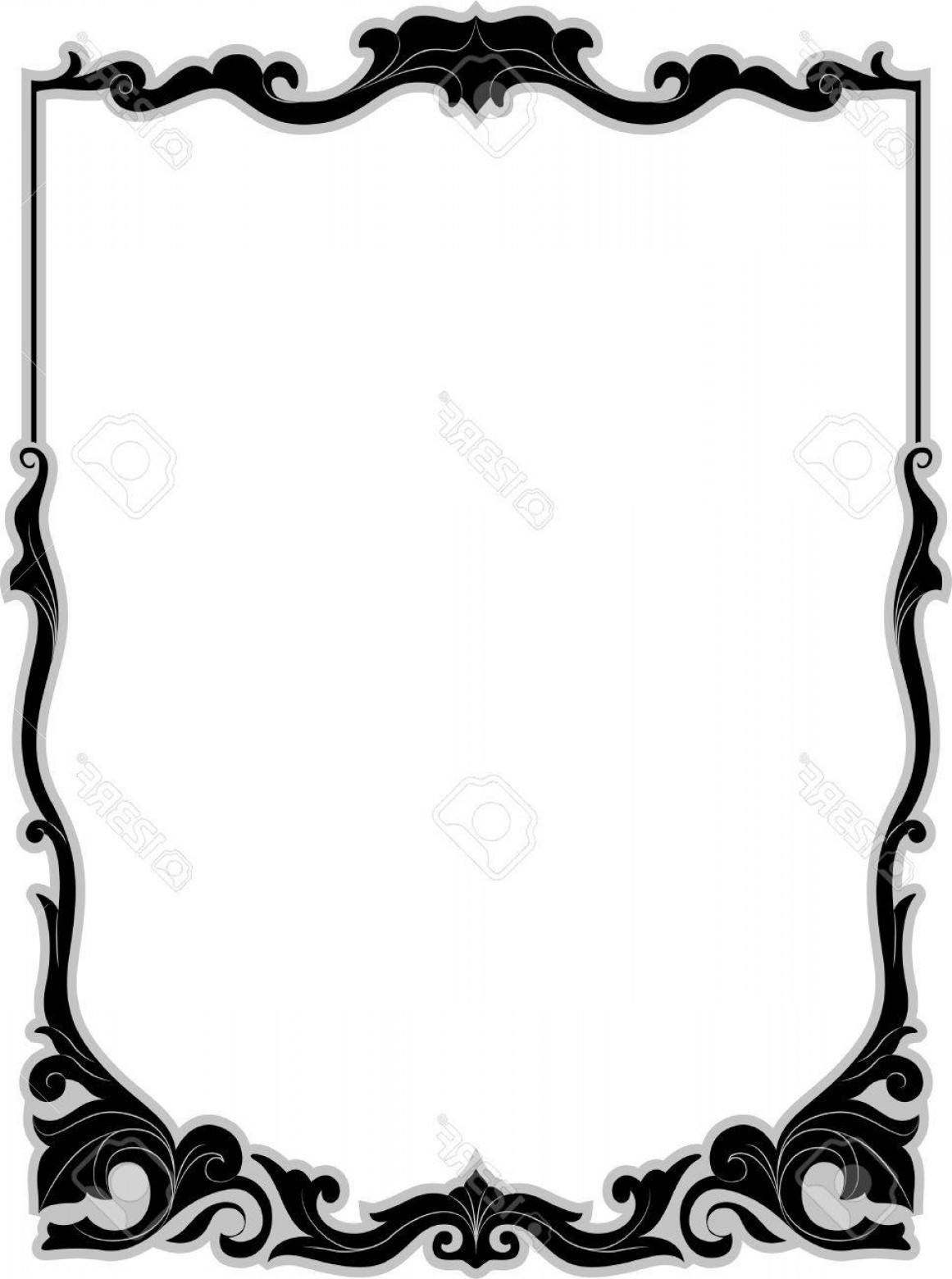 Filigree Oval Frame Vector: Photostock Vector Illustration Of A Frame With A Filigree Design