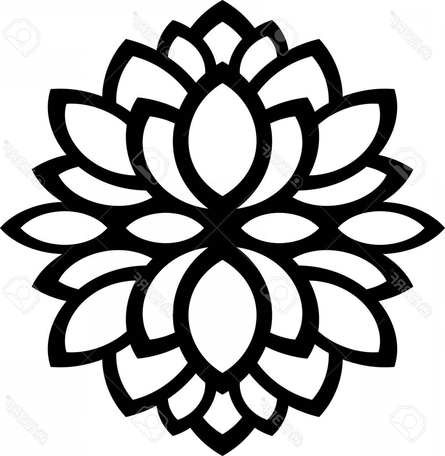 Vector CNC Designs: Photostock Vector Illustration Of Great Ornaments Leaf Flower Silhouette Ready For Cnc And Prints