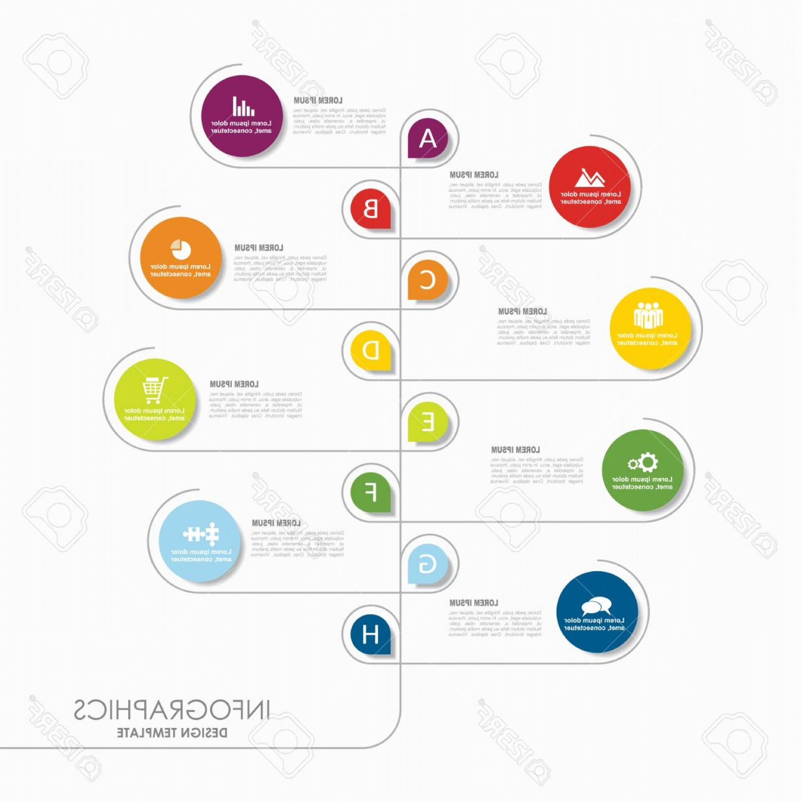 What Are Vectors Used For: Photostock Vector Infographic Template Vector Illustration Can Be Used For Workflow Layout Diagram Business Step Optio