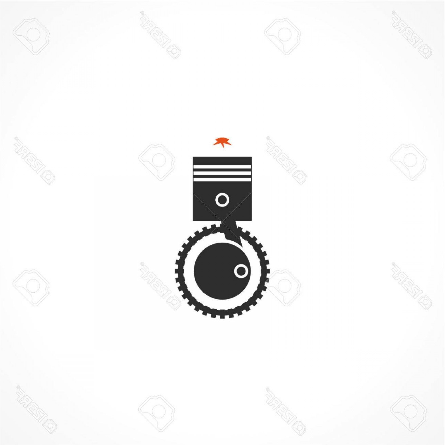 Combustible Engine Vector: Photostock Vector Internal Combustion Engine Vector Icon
