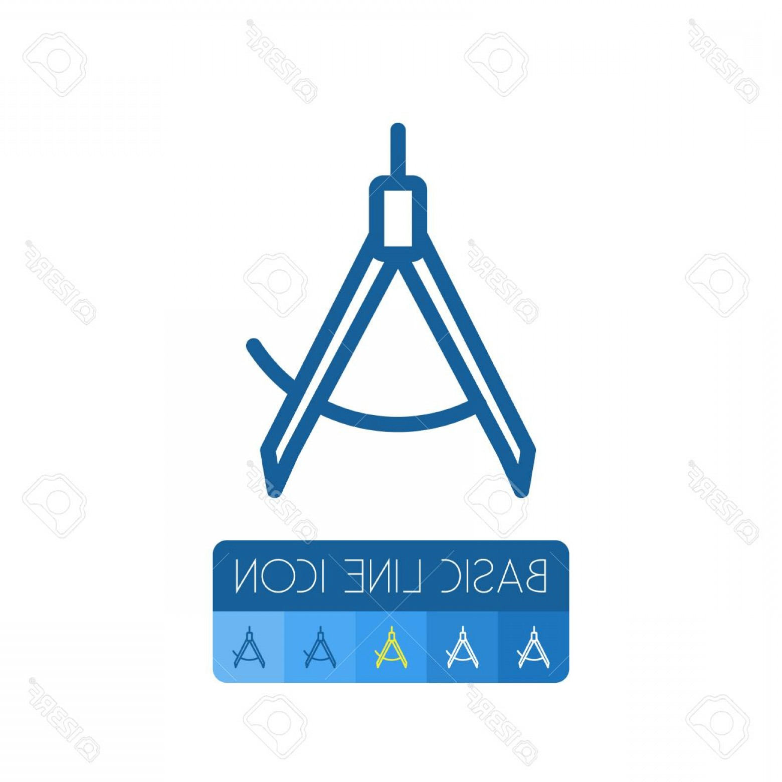 Navigation Vector: Photostock Vector Isolated Compass Outline Navigation Vector Element Can Be Used For Compass Direction Navigation Desi