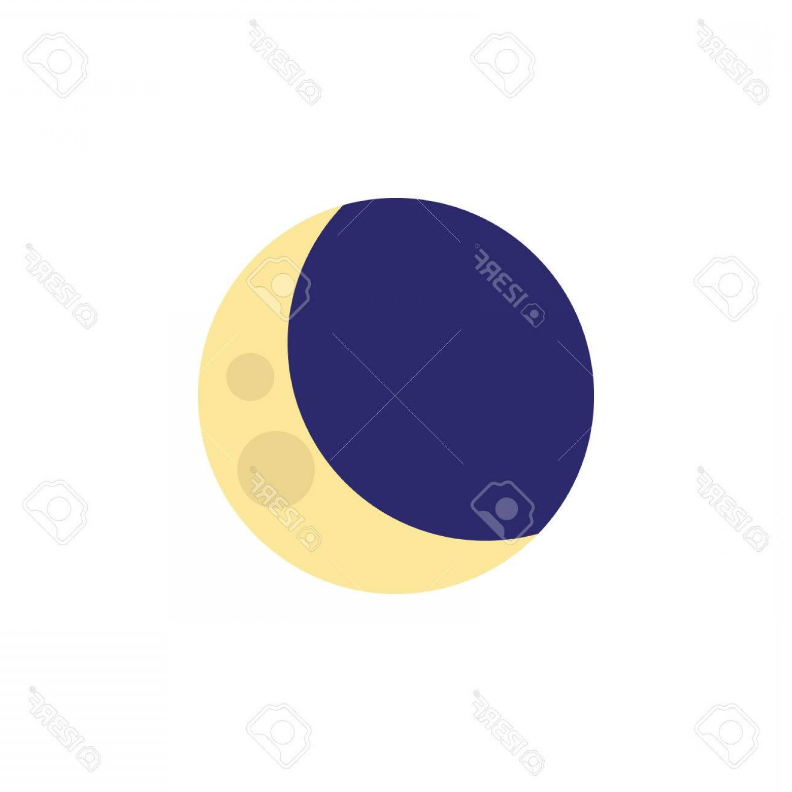 Cresent Moon Vector: Photostock Vector Isolated Crescent Flat Icon Half Moon Vector Element Can Be Used For Crescent Moon Midnight Design C