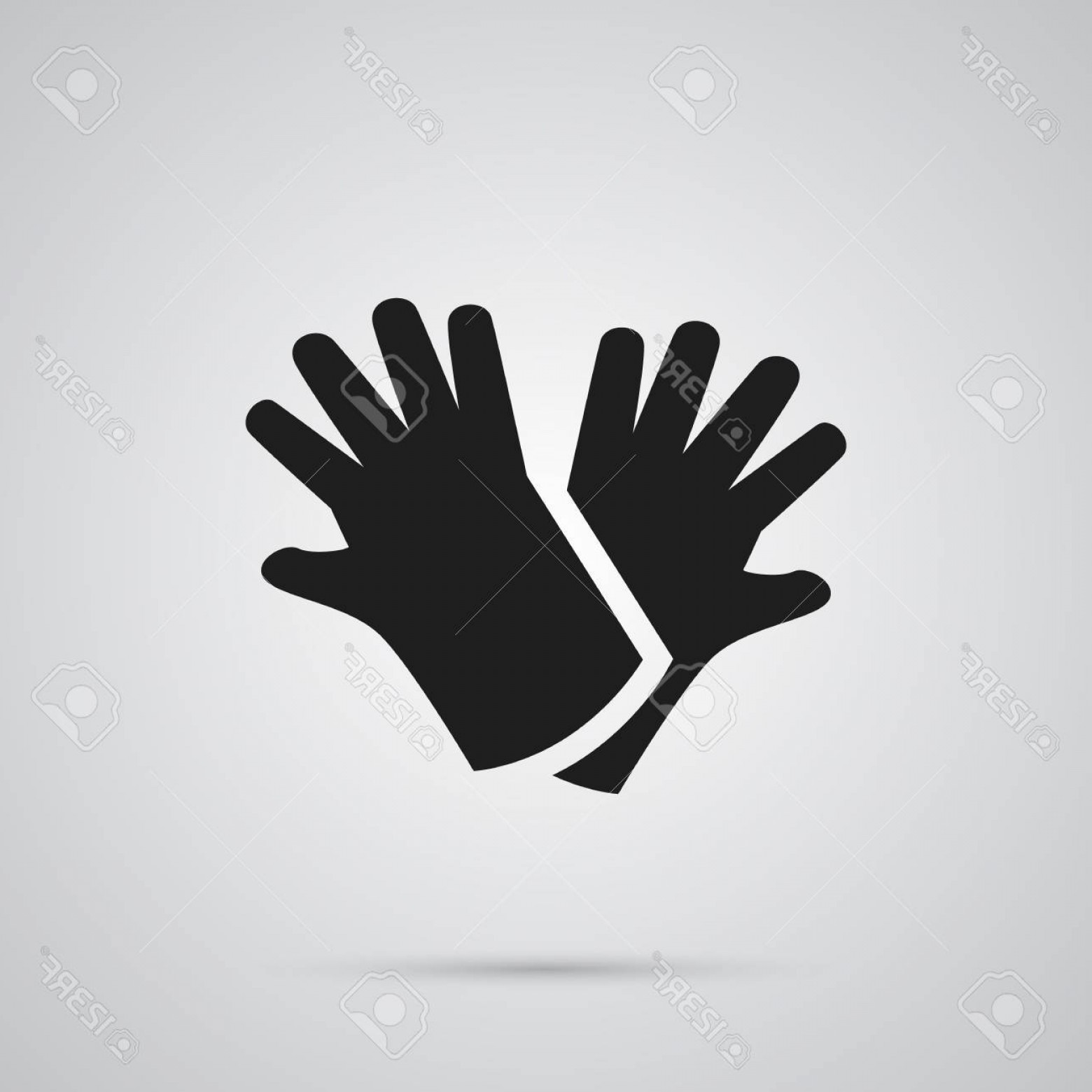 White Glove Service Vector: Photostock Vector Isolated Gloves Icon Symbol On Clean Background Vector Latex Element In Trendy Style