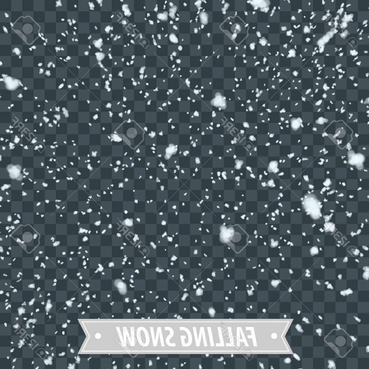 Snow Falling Vector Free: Photostock Vector Isolated Heavy Snow Falling Eps Vector