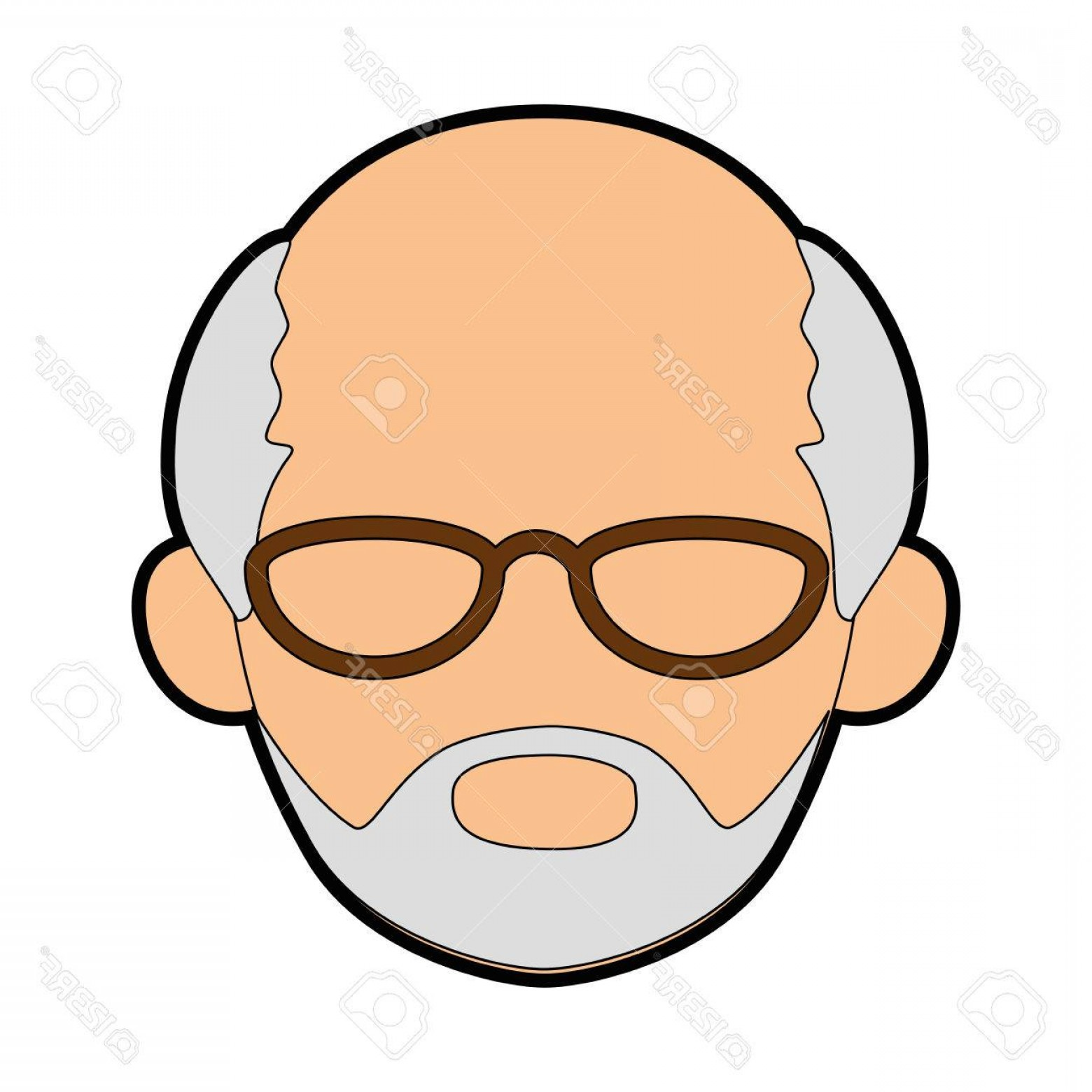 Male Face Icon Vector: Photostock Vector Isolated Old Man Face Icon Vector Illustration Graphic Design
