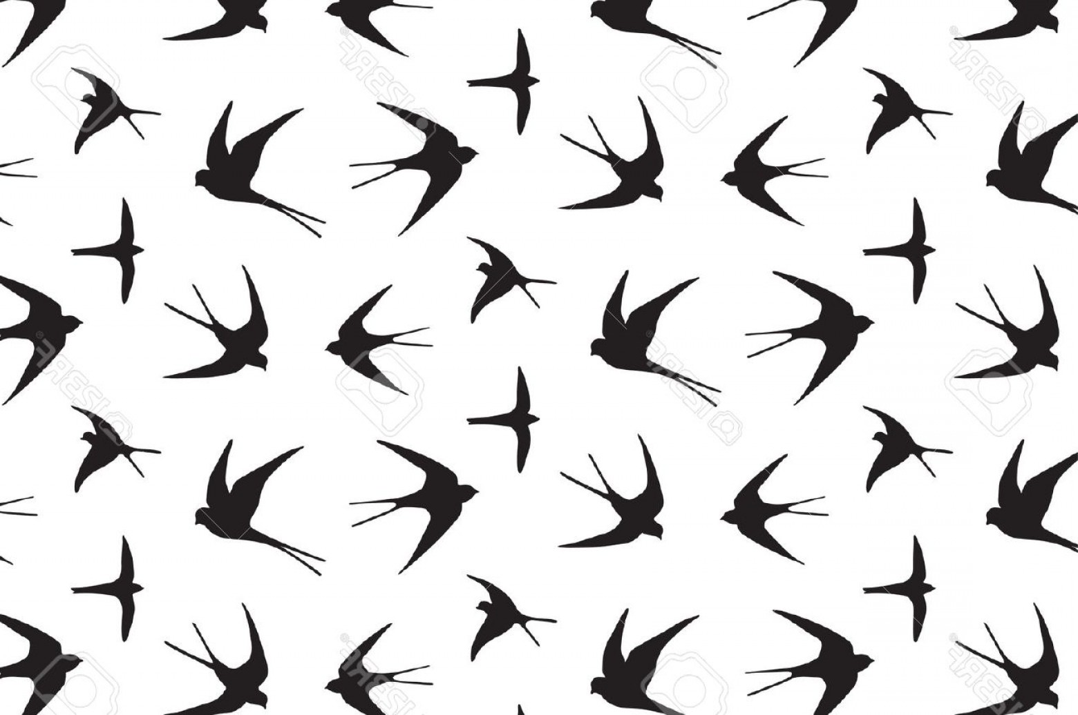 Swallow Vector: Photostock Vector Japanese Swallow Vector Hand Drawing Graphic Pattern