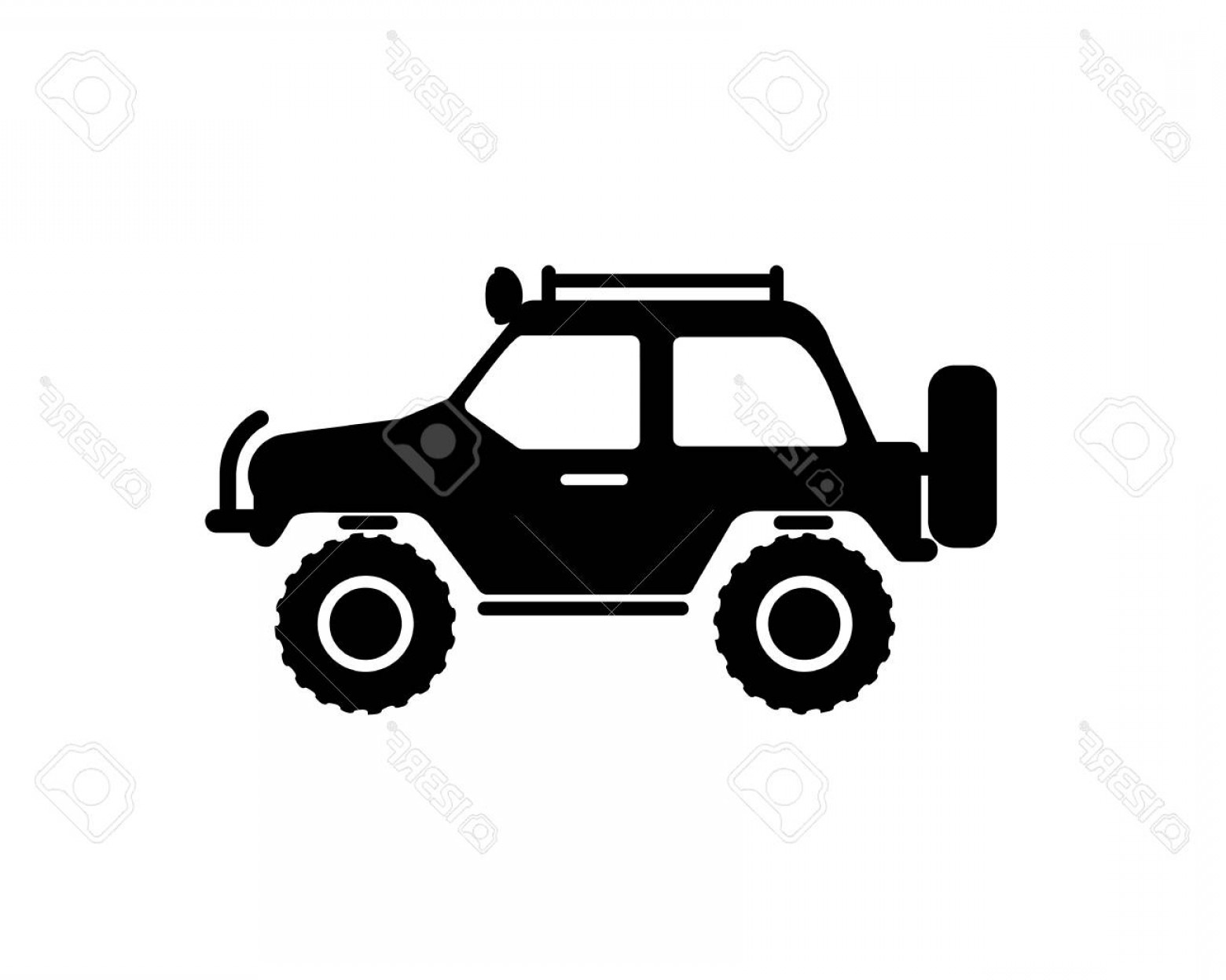 Vector Clip Art Of Jeep: Photostock Vector Jeep Travel Vector Icon On White Background