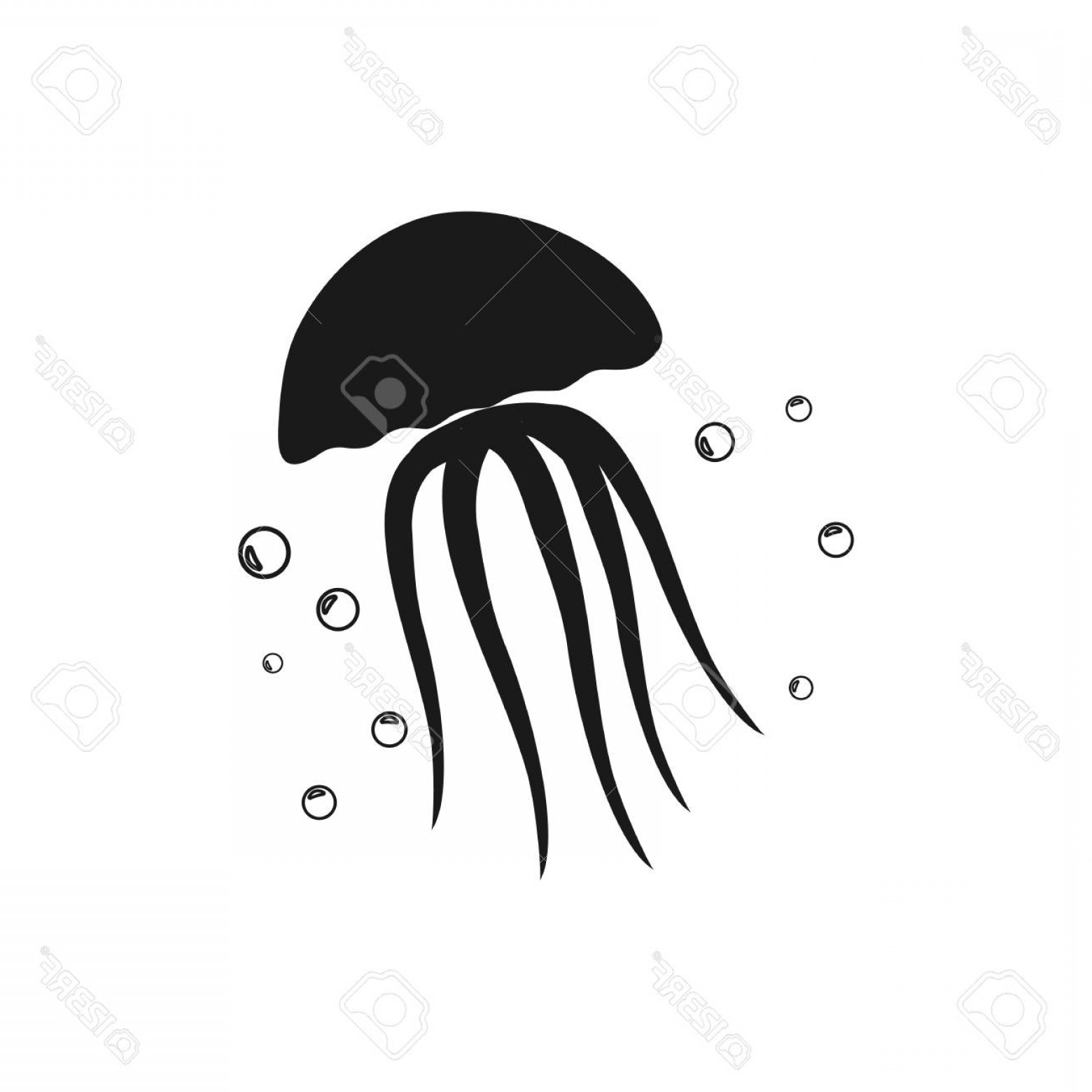 Jelly Fish Graphic Vector: Photostock Vector Jellyfish Icon Vector Flat Icon Jellyfish Flat Vector Illustration For Web And Mobile Vector Jellyfi