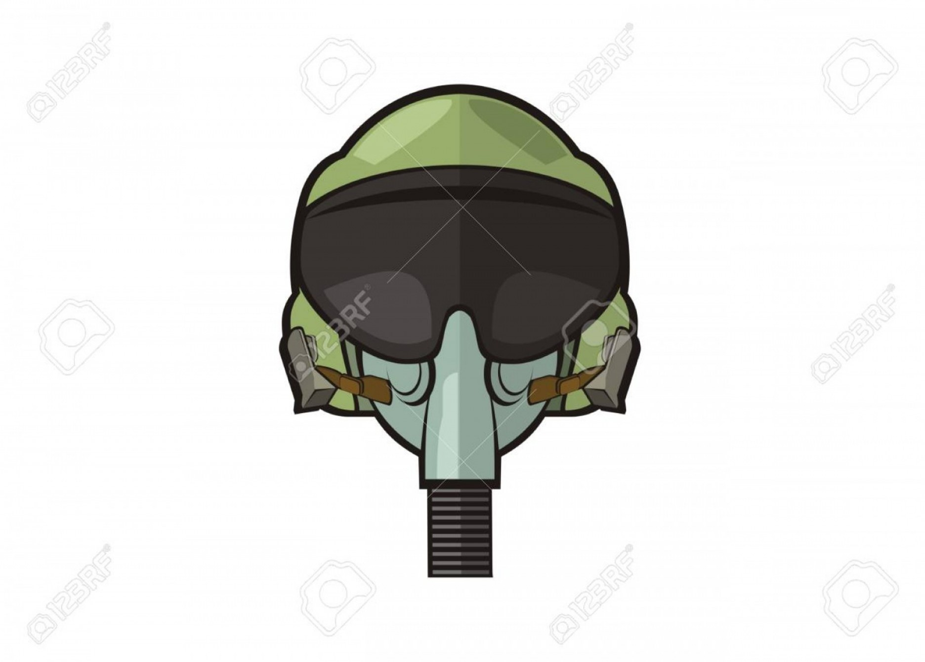 Fighter Helmet Vectors: Photostock Vector Jet Fighter Pilot Helmet Simple Illustration