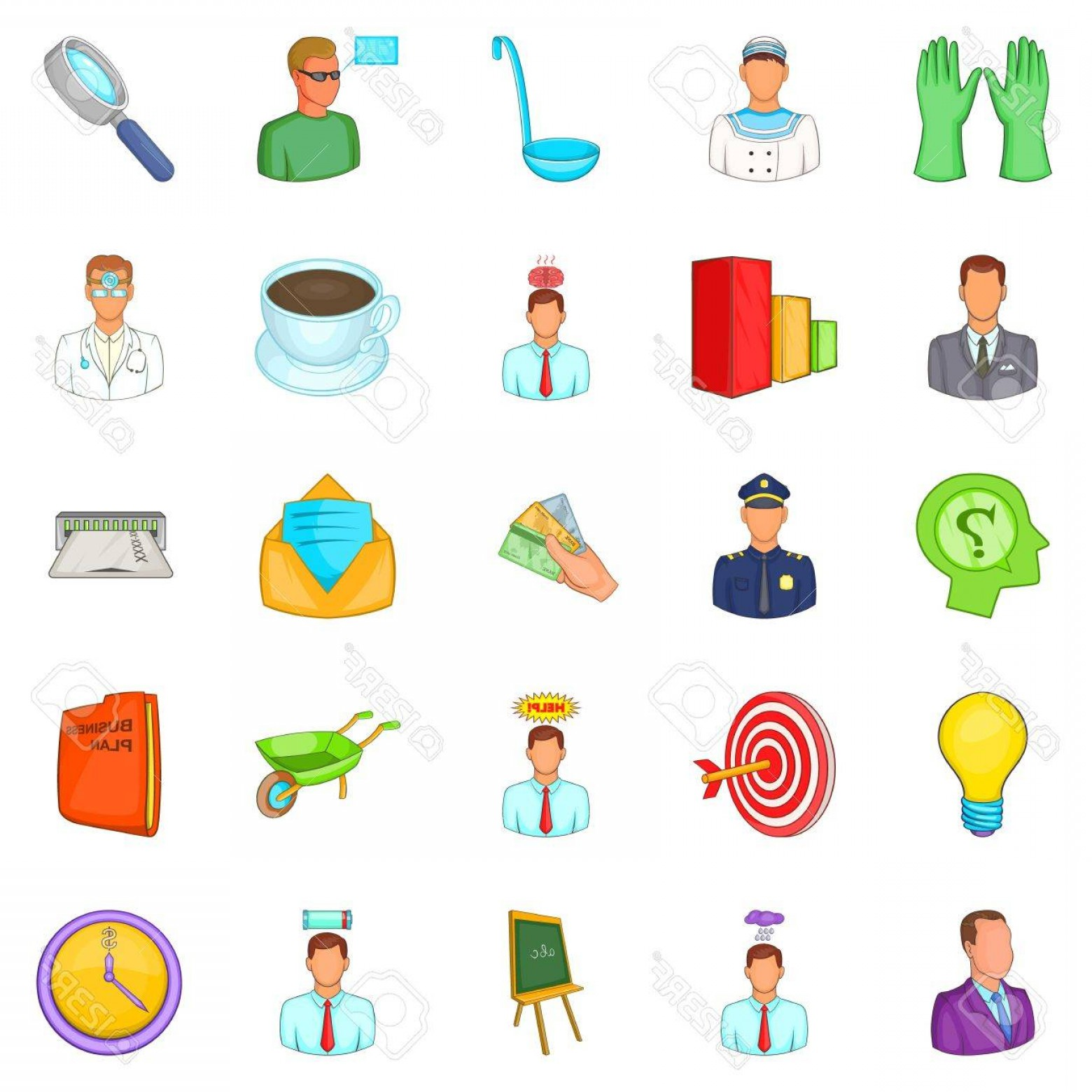 Vector Job Offer: Photostock Vector Job Offer Icons Set Cartoon Set Of Job Offer Vector Icons For Web Isolated On White Background