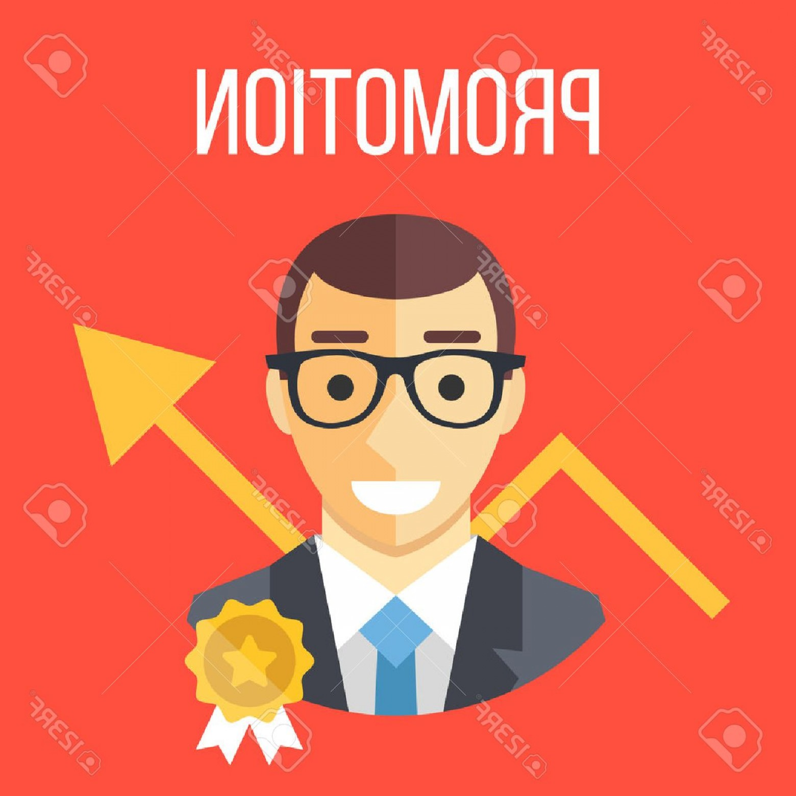 Vector Career Ladder: Photostock Vector Job Promotion Flat Illustration Career Ladder Advance In Office Job Development Promotion At Work Co