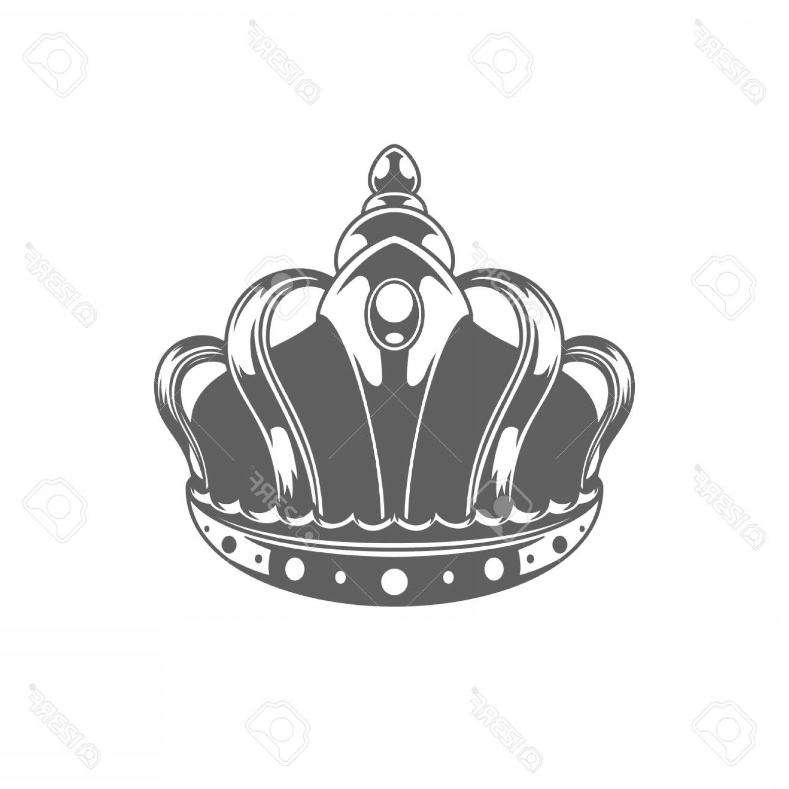 Crown White Outline Vector: Photostock Vector King Crown Logo Vector Illustration Royal Crown Silhouette Isolated On White Background Vector Objec