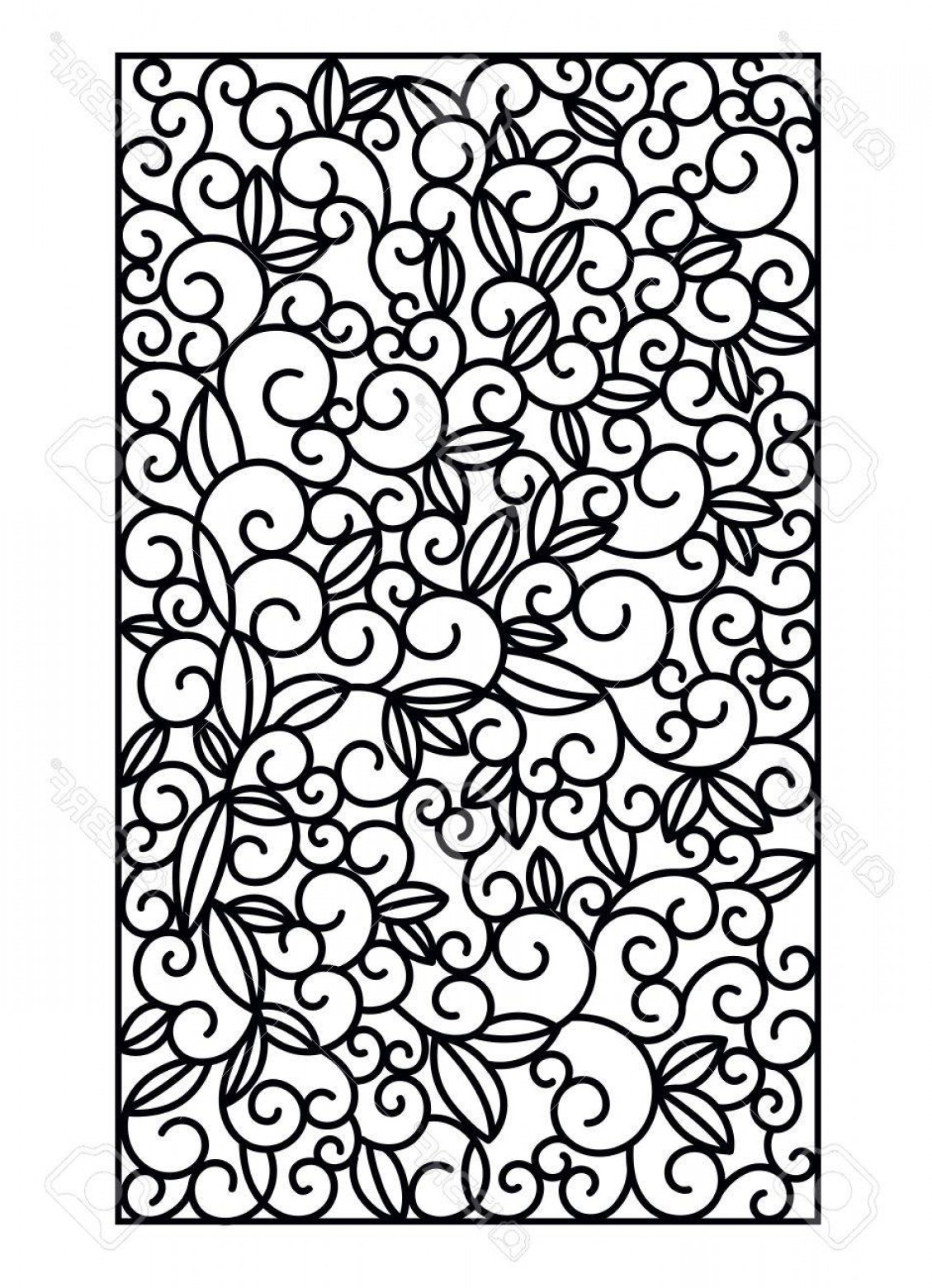 Wood Cutting Vector: Photostock Vector Laser Cut Vector Panel Cutting Paper Wood Metal Swirls Vector Illustration Hand Drawn Line Art