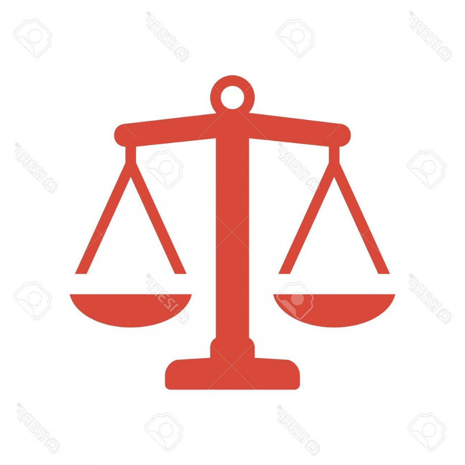 Balance Symbol Vector: Photostock Vector Law Firm Icon With Vintage Scale In Balance Symbol Vector