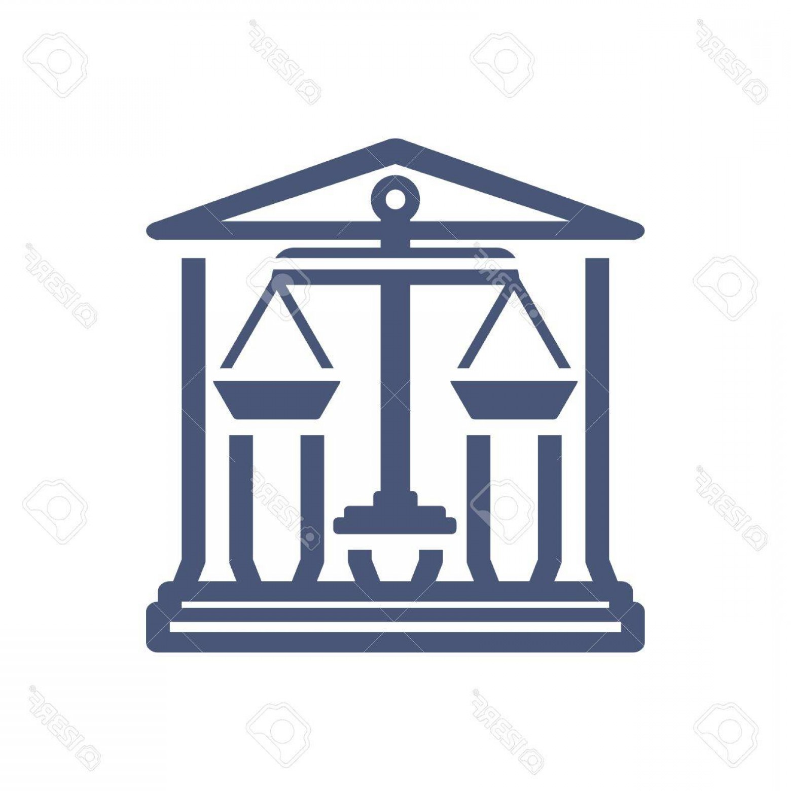 Balance Symbol Vector: Photostock Vector Law Firm Logo Icon With Vintage Scale In Balance Symbol Vector