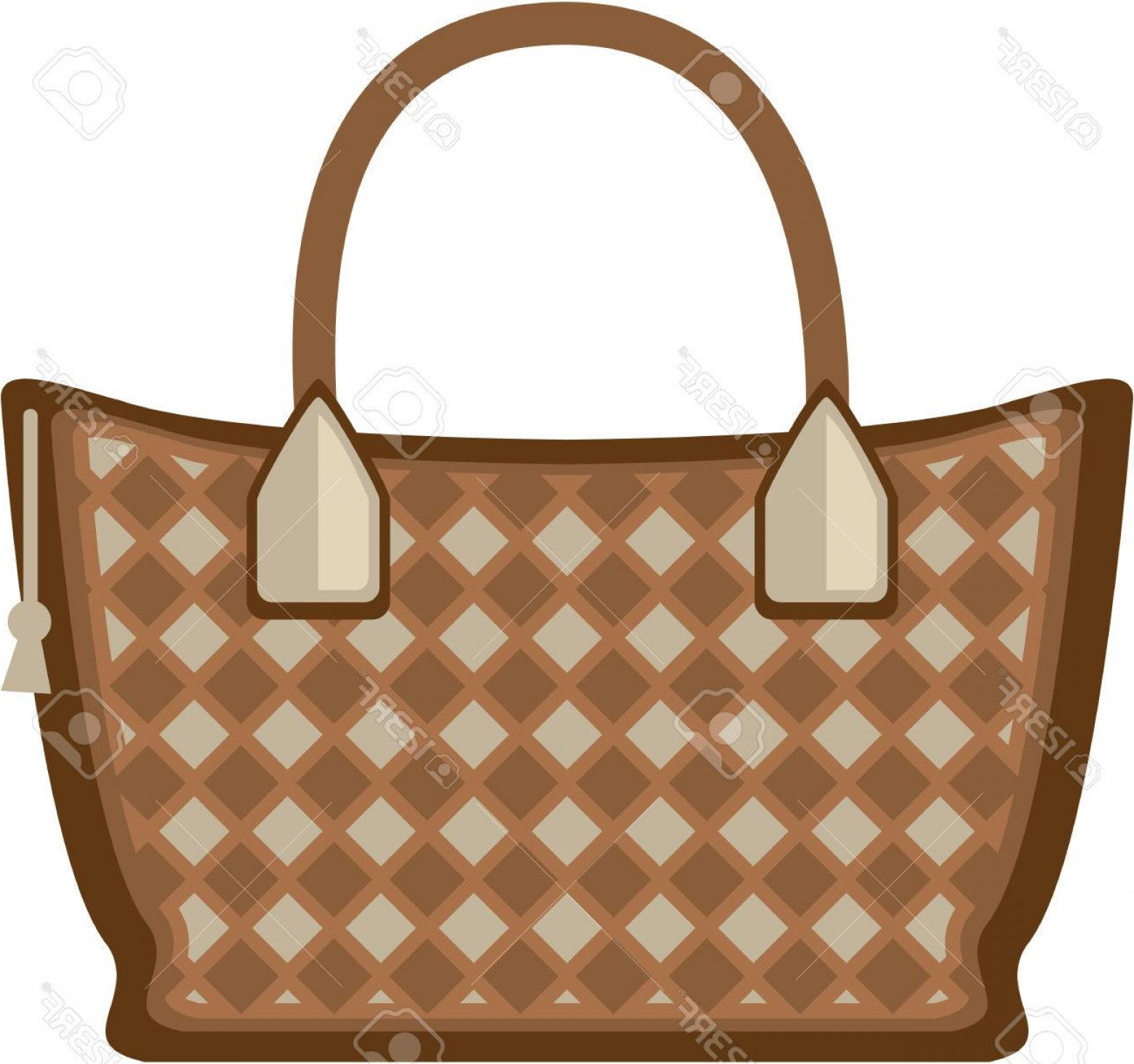 Purse Vector Art: Photostock Vector Leather Purse Vector Illustration Clip Art Image