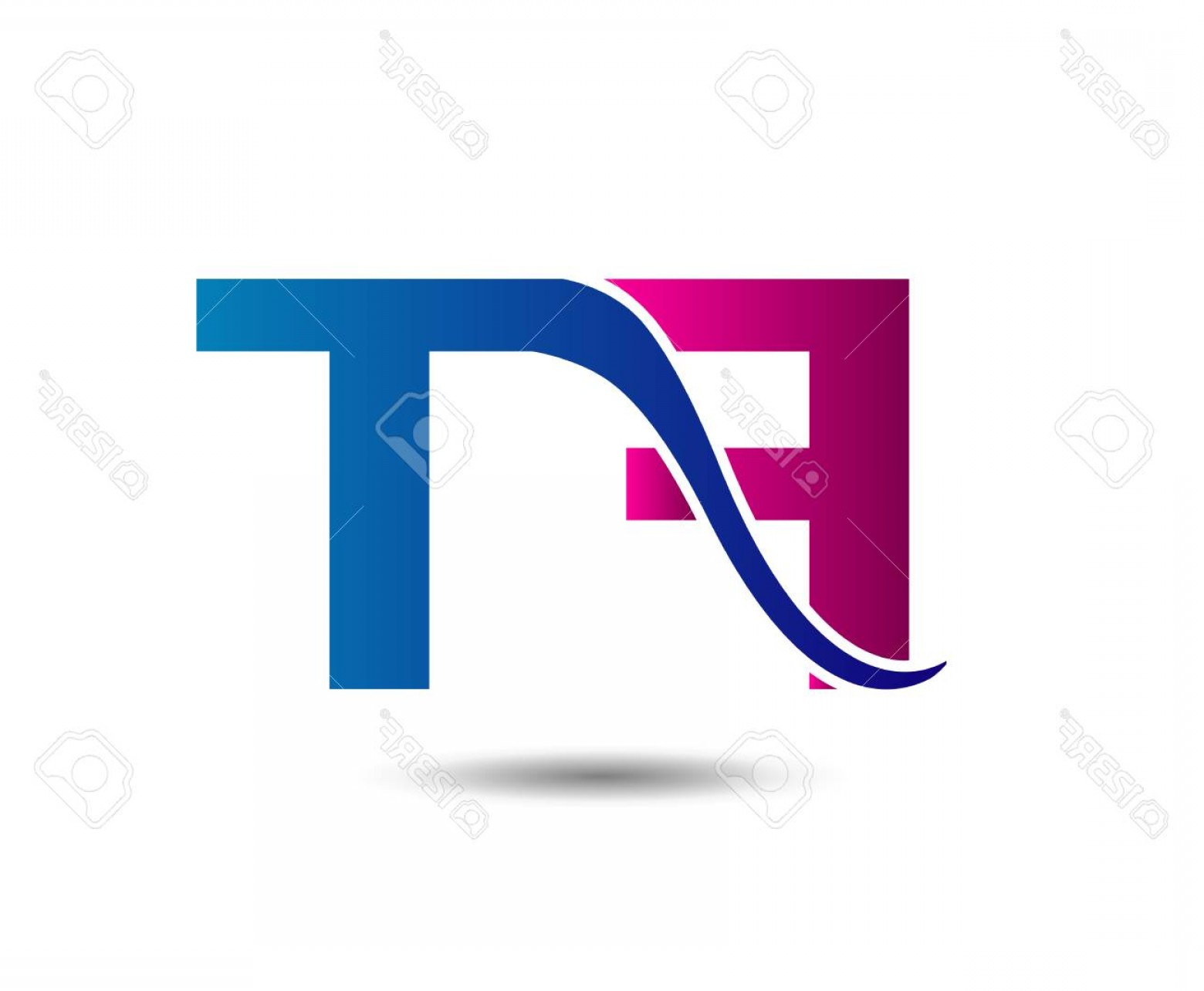 T Vector: Photostock Vector Letter Ft F And T Vector