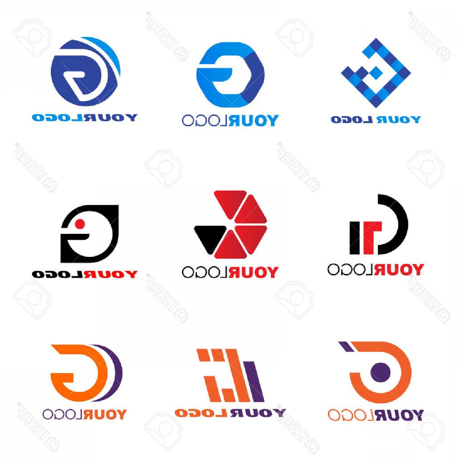 BBB Accredited Logo Vector: Photostock Vector Letter G Logo Vector Set Design